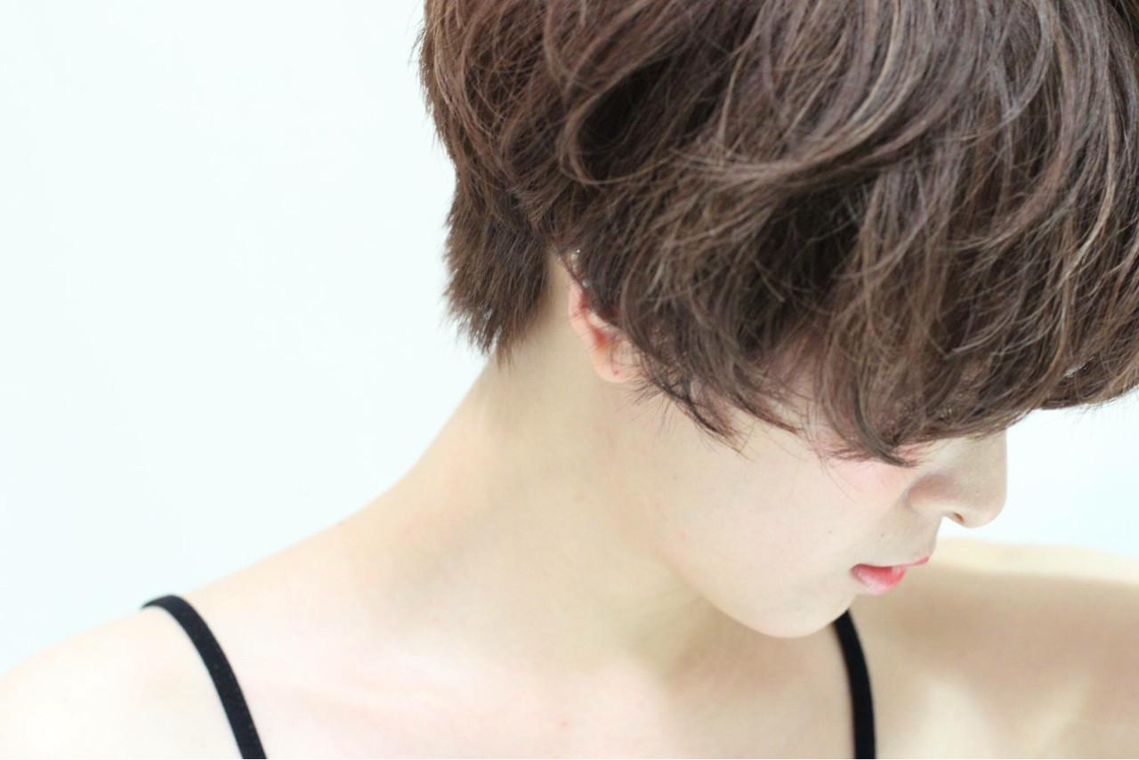 ショート エフォートレス 前髪あり マッシュ ヘアスタイルや髪型の写真・画像