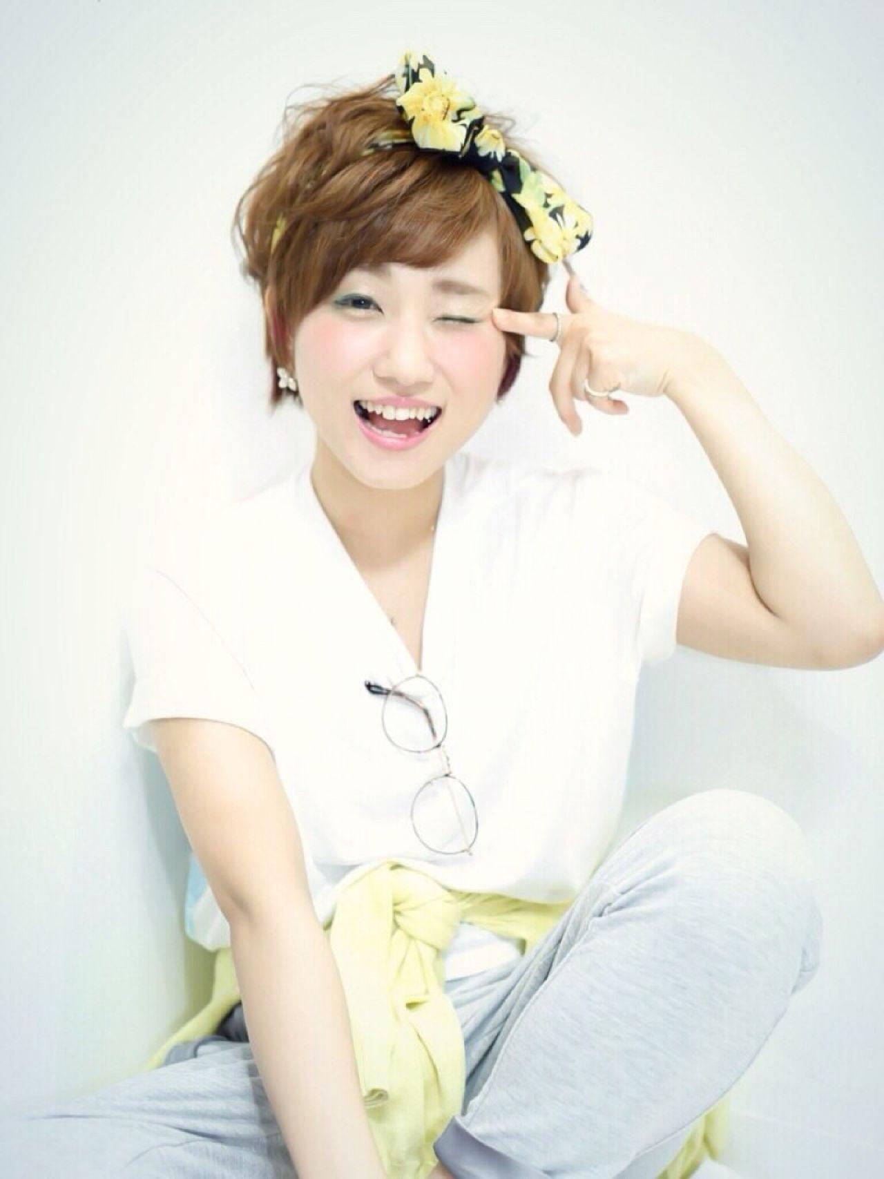ショートだからこそかわいい♡ヘアバンドを使ったヘアアレンジ♪ Ayumi