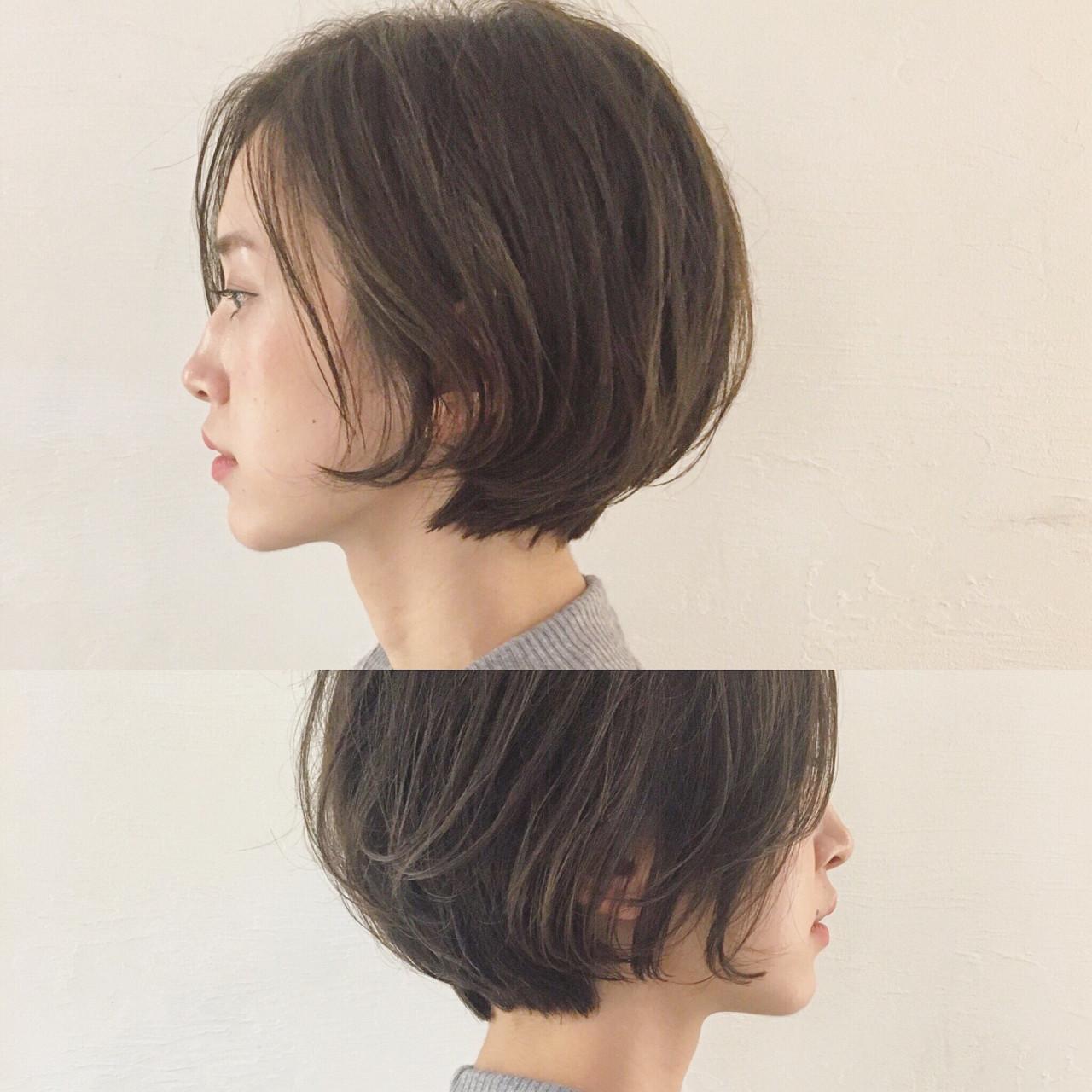 外国人風 アッシュ ナチュラル ショート ヘアスタイルや髪型の写真・画像