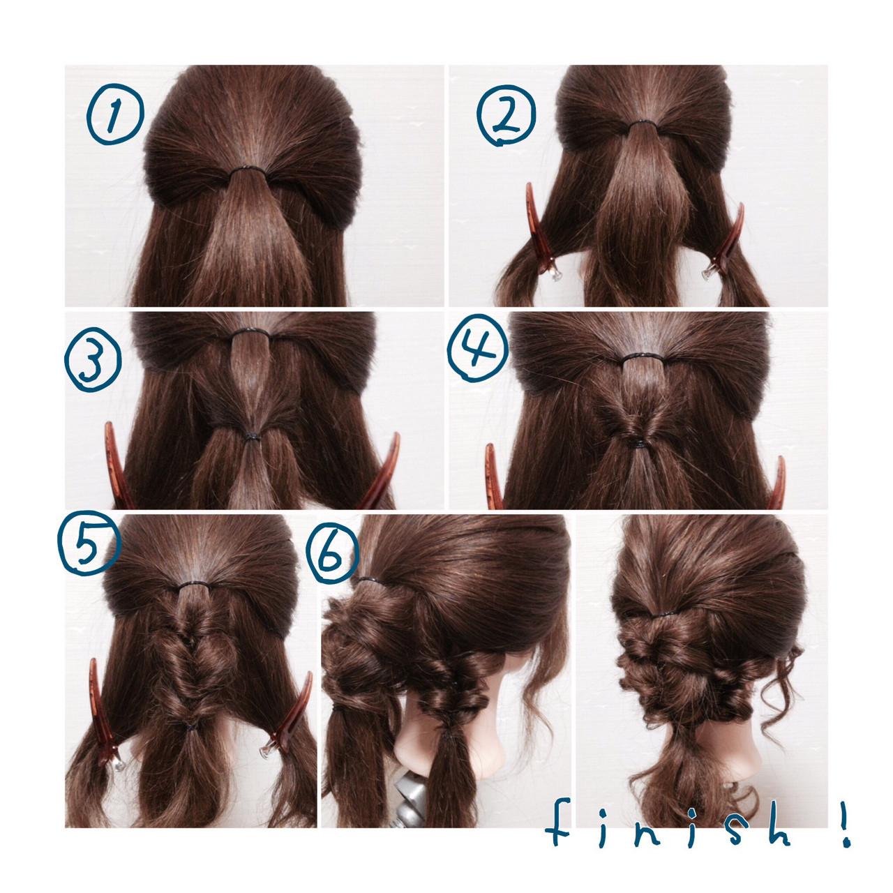 「ハーフアップ」×「くるりんぱ」で最強にモテるヘア