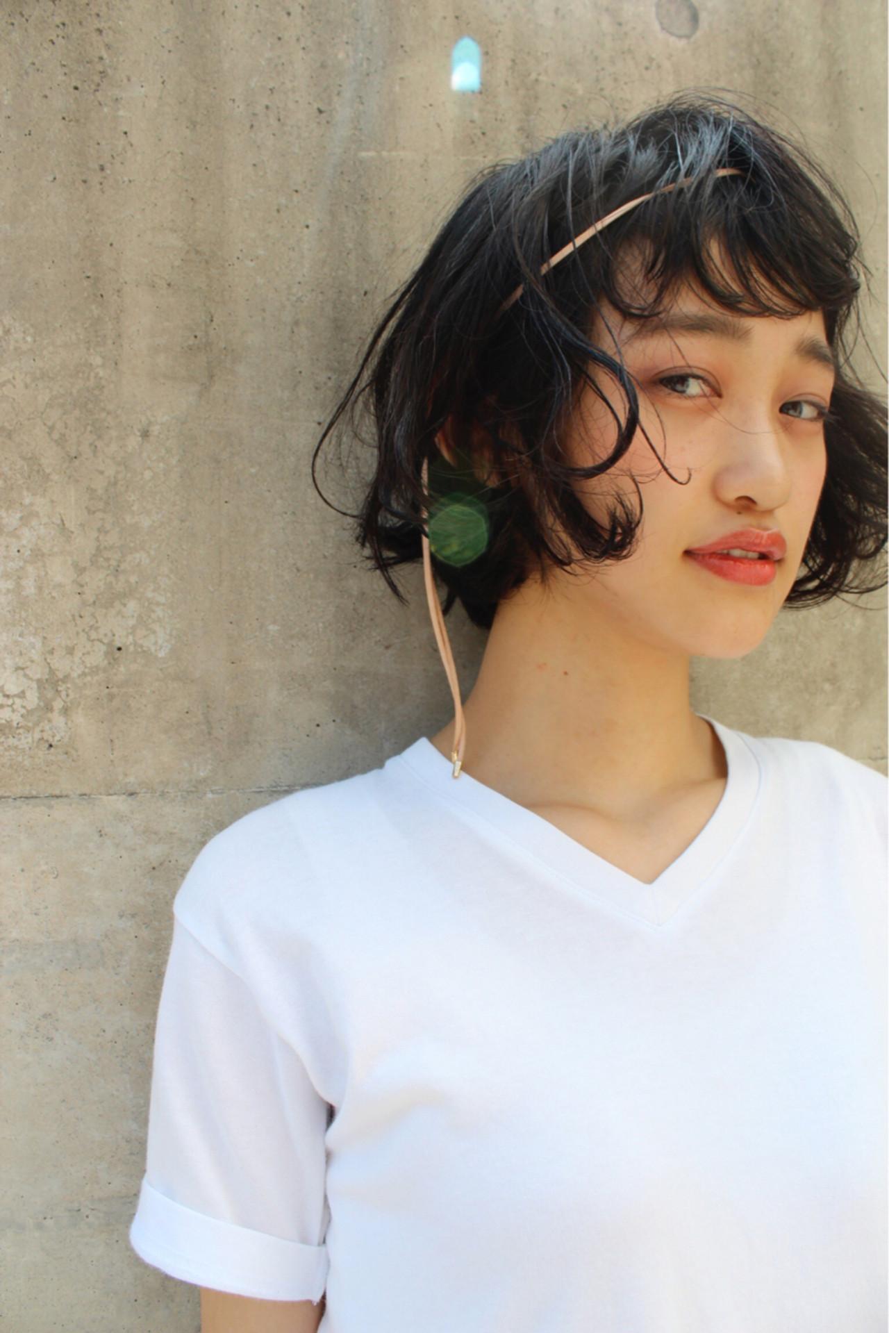 幼いなんて言わせない!丸顔さんに似合うショートボブとは 永井 美菜子 bibito