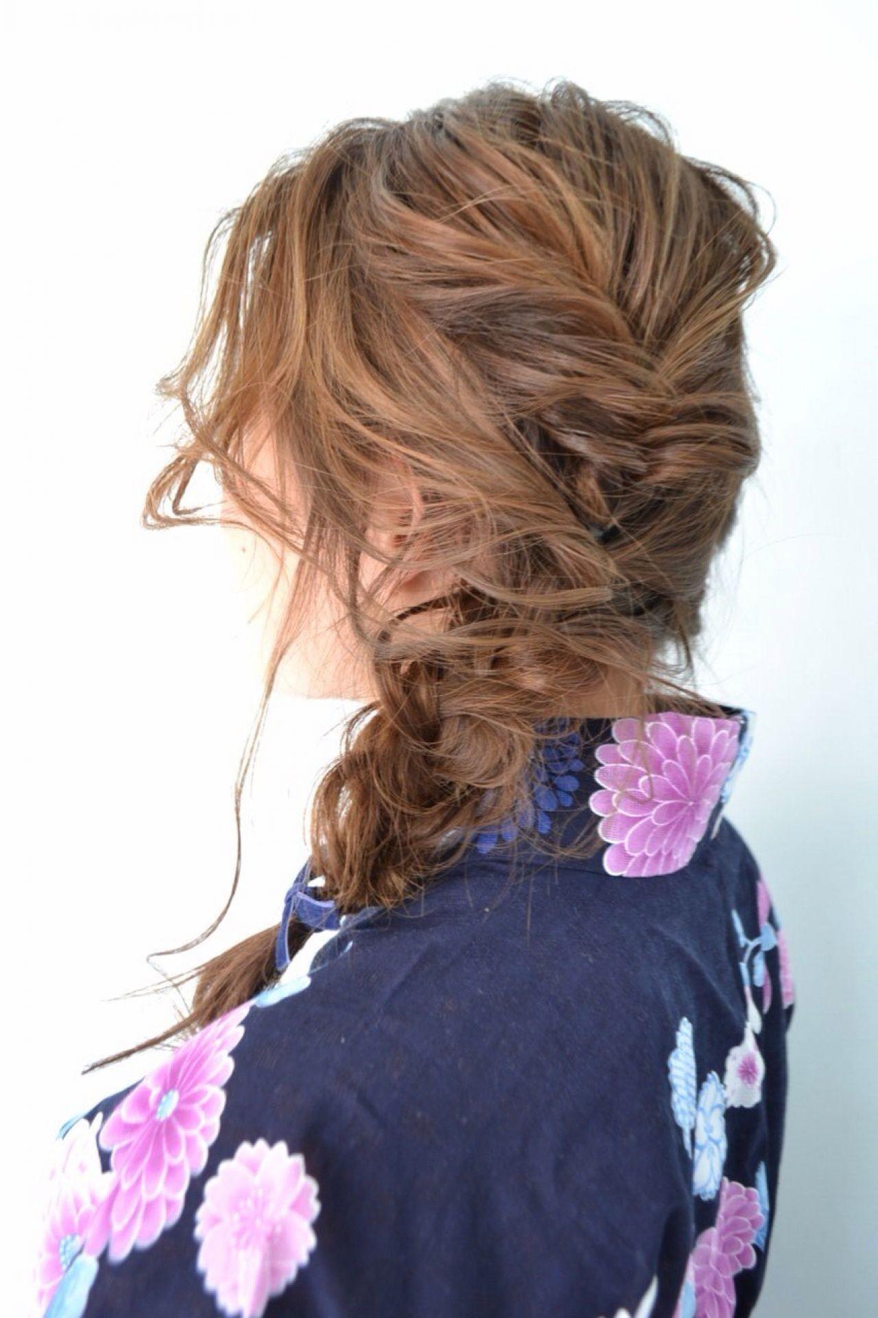 ヘアアレンジ 夏 和装 まとめ髪 ヘアスタイルや髪型の写真・画像