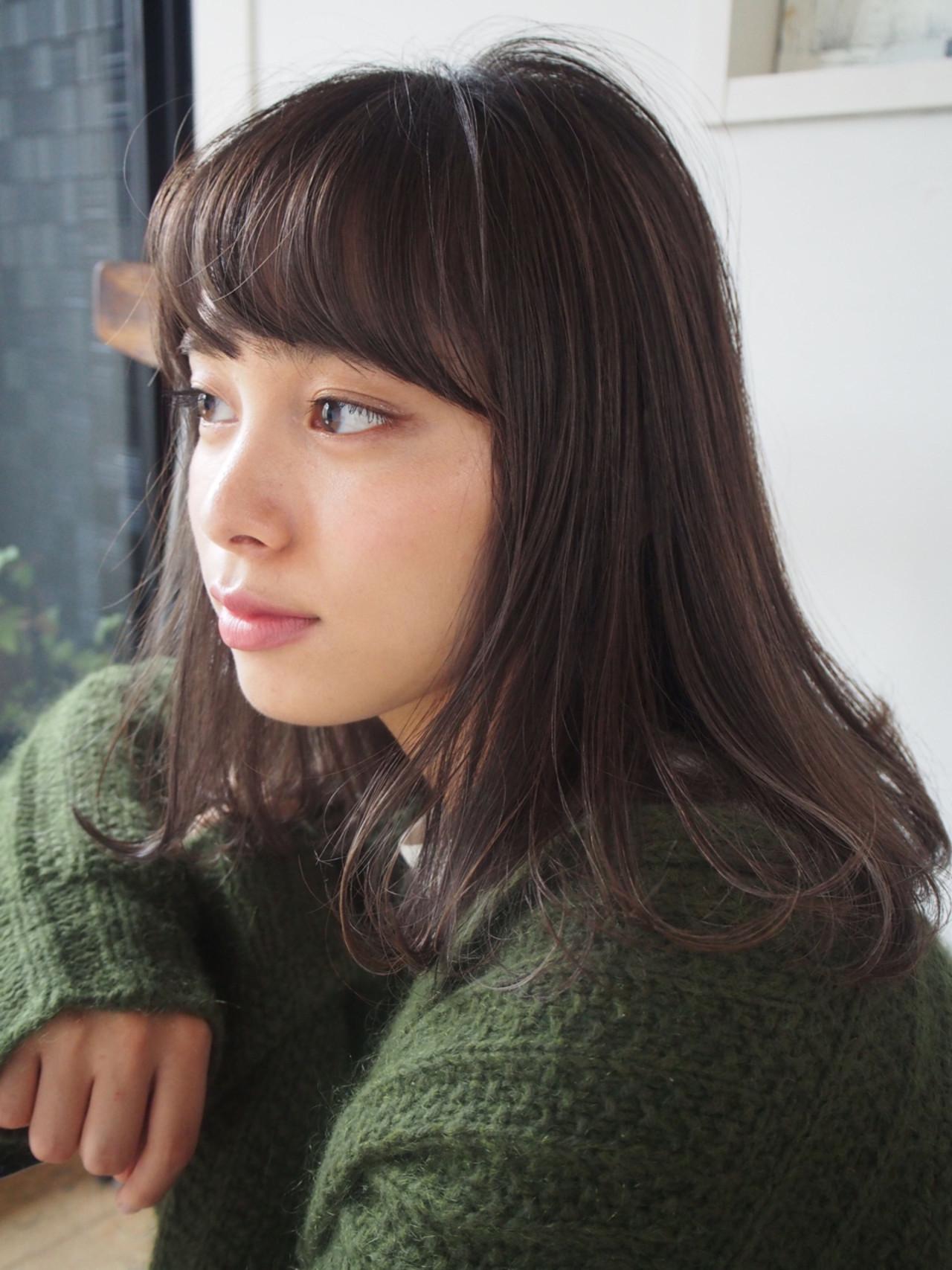 黒髪×ミディアム×パーマは色気たっぷりのおフェロスタイルに♡ 一色 さおり
