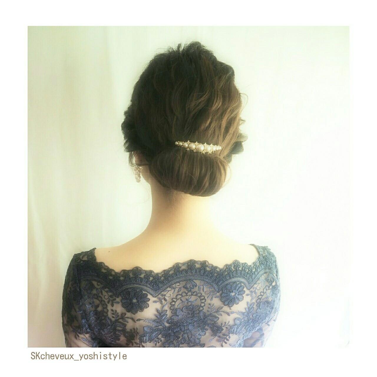ヘアアレンジ フェミニン ミディアム 大人かわいい ヘアスタイルや髪型の写真・画像