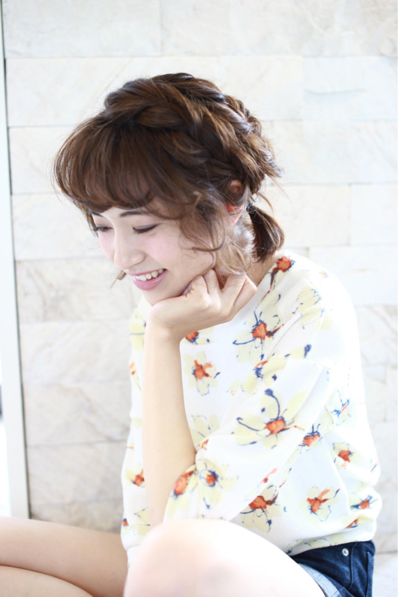 色気 簡単ヘアアレンジ フェミニン ナチュラル ヘアスタイルや髪型の写真・画像
