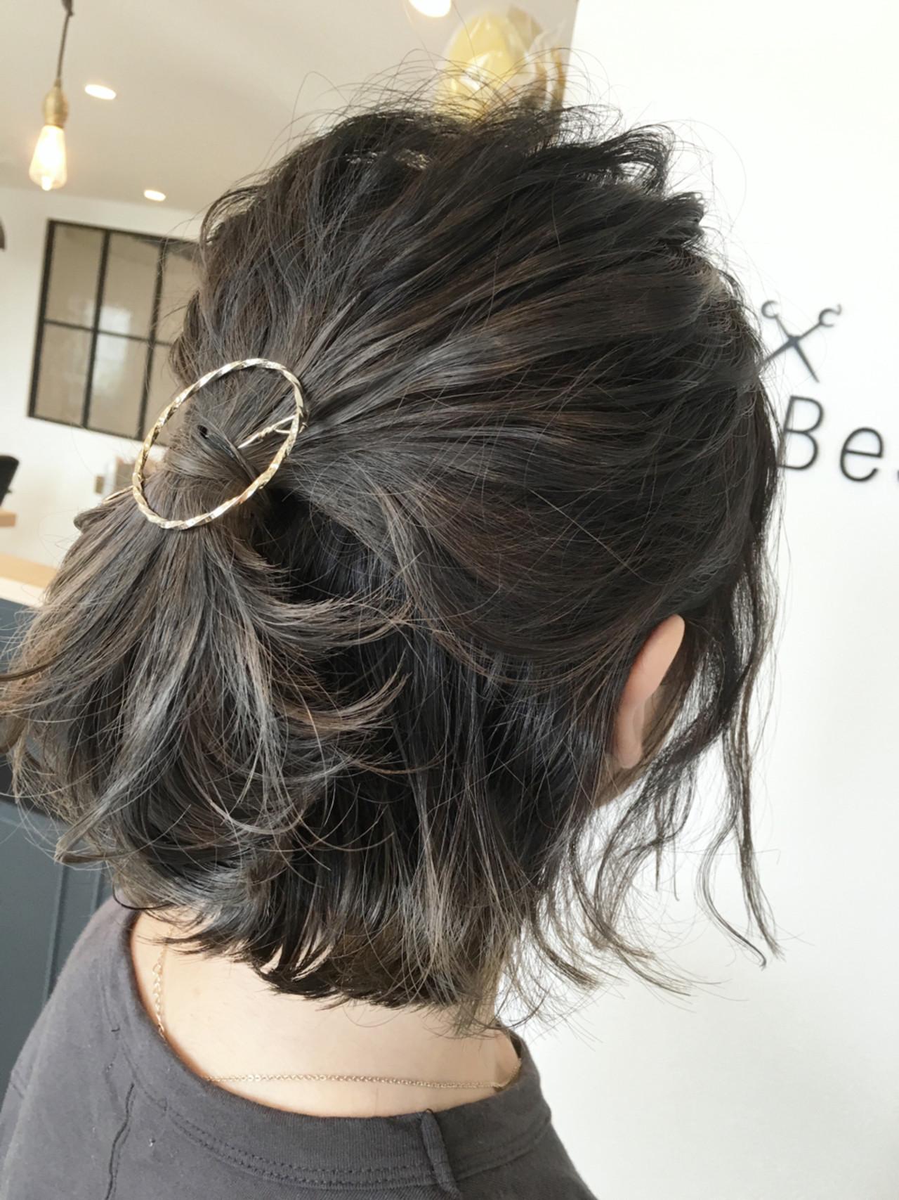 【美容師直伝】ロブがかわいく見える♡おすすめヘアアレンジ集 鳥越 ありさ  hair…nail TLABeS