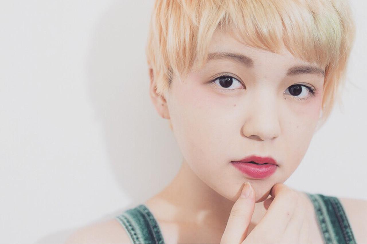 ショート ヘアアレンジ 外国人風 ハイライト ヘアスタイルや髪型の写真・画像