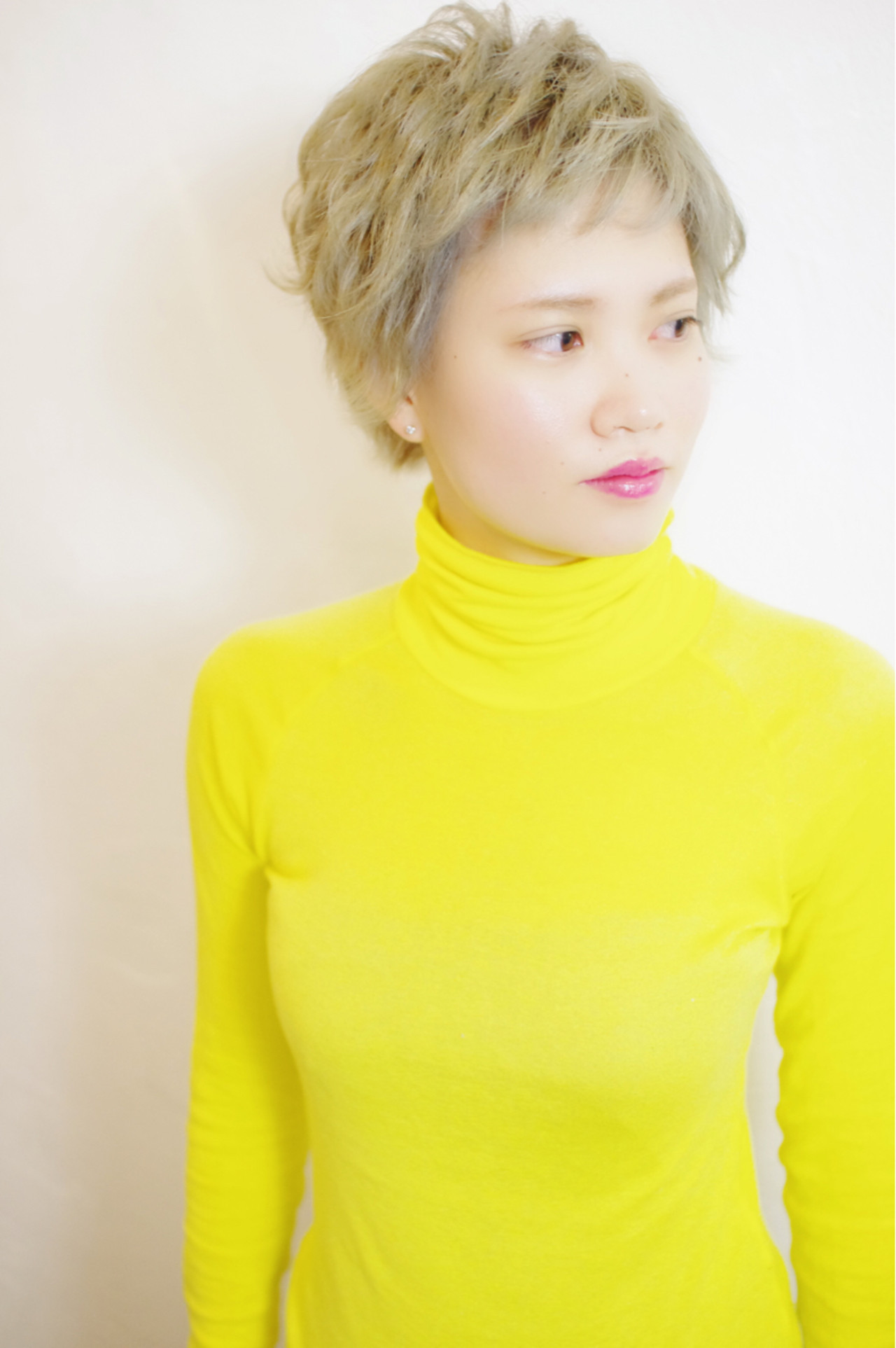 小顔 ブリーチ モード 外国人風 ヘアスタイルや髪型の写真・画像