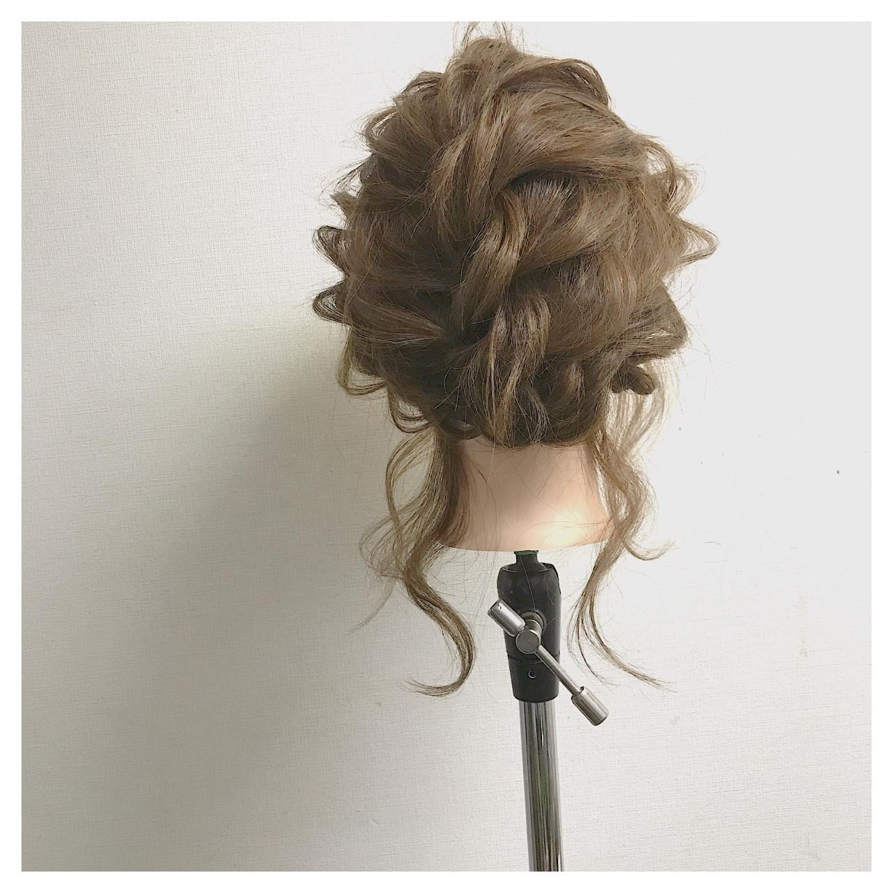 ヘアアレンジ ミディアム 簡単ヘアアレンジ 編み込み ヘアスタイルや髪型の写真・画像