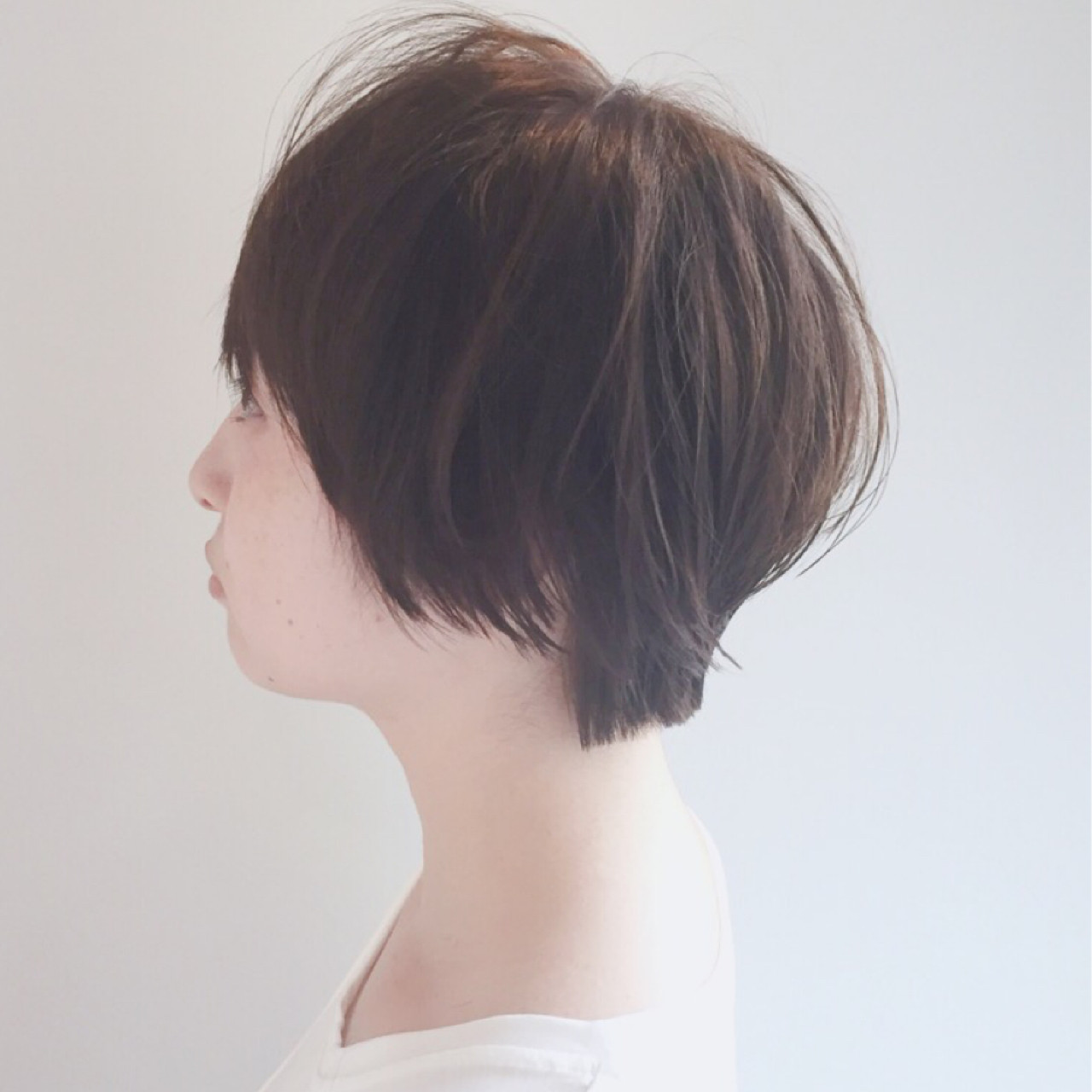 アッシュベージュ ショートボブ 小顔 ナチュラル ヘアスタイルや髪型の写真・画像