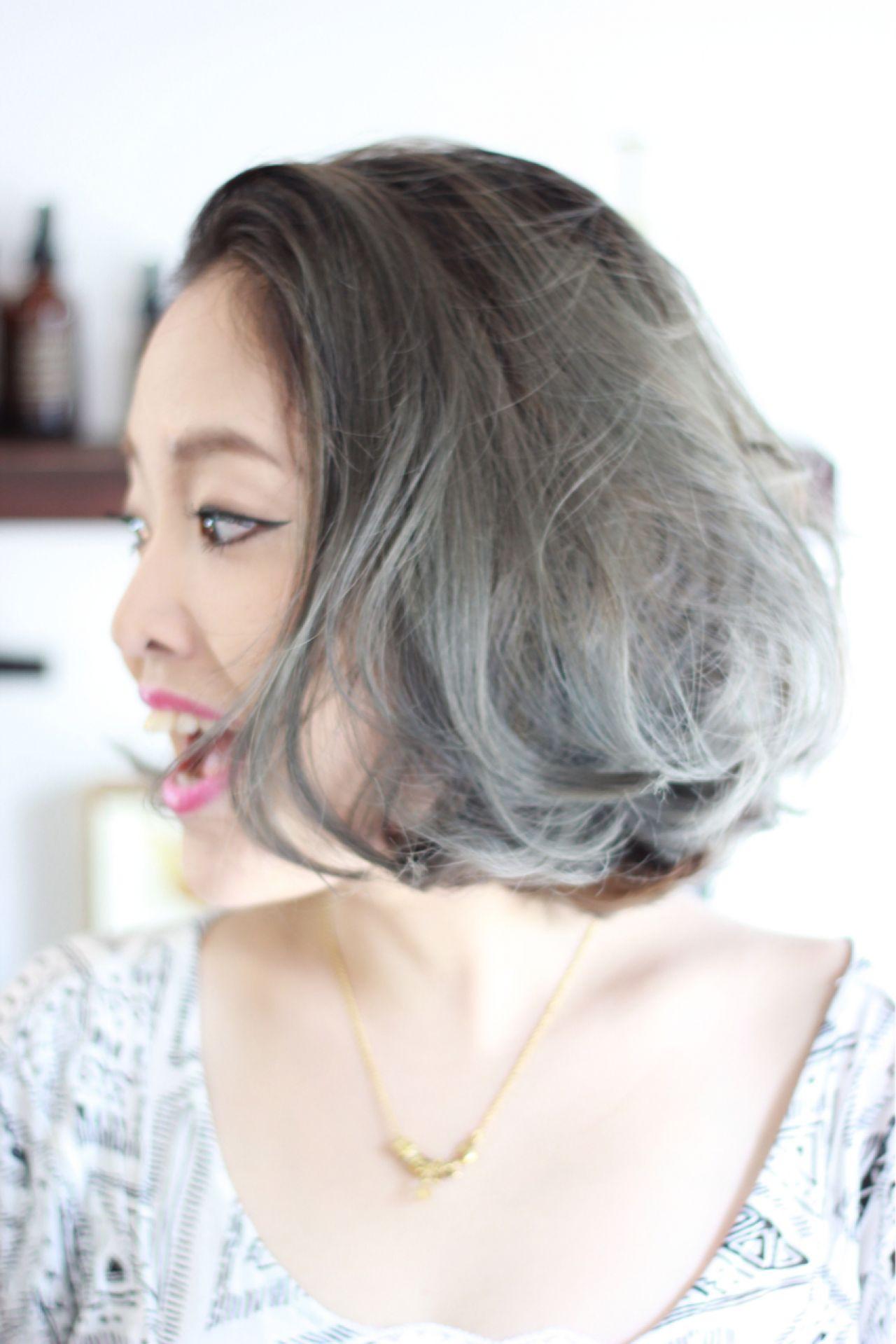 グレージュ系グラデーションで憧れの外国人風ヘアに大変身♡ 大西 直人  LUCK HAIR
