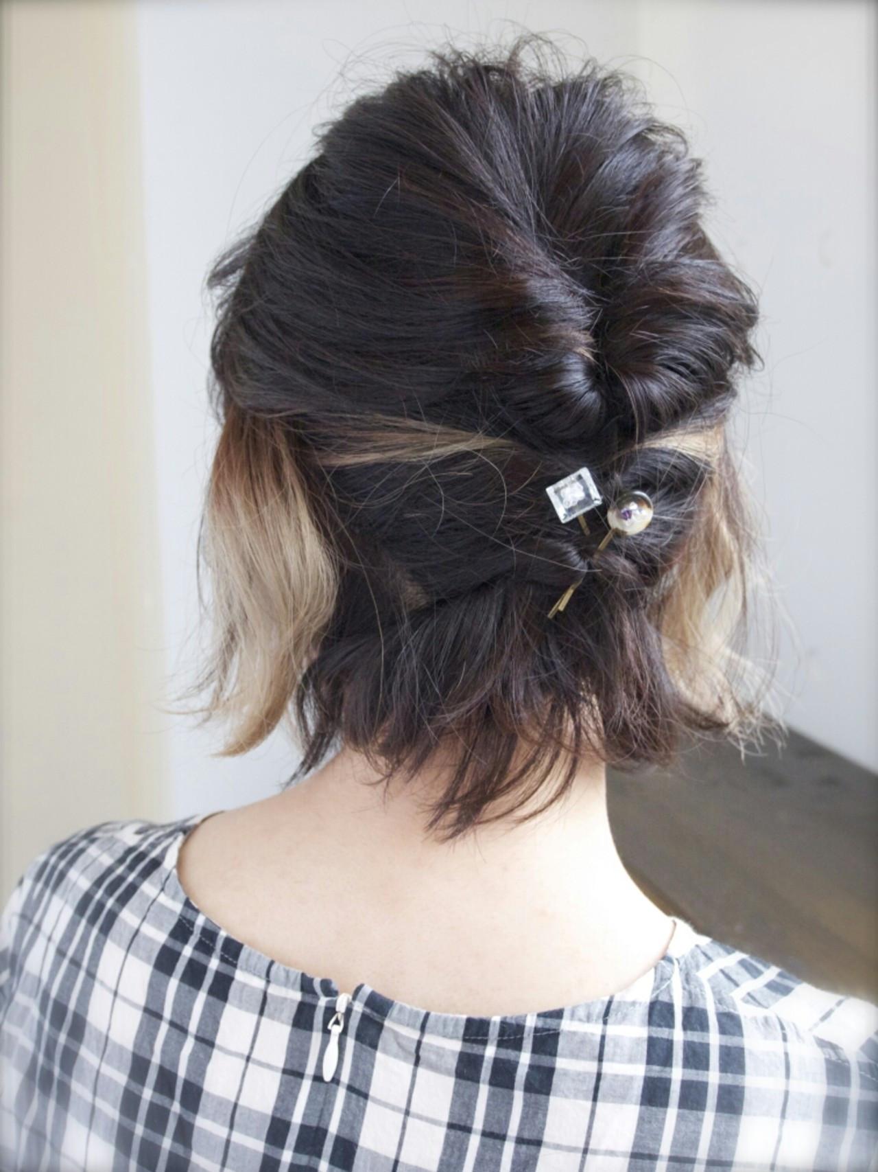 短い髪でも大丈夫!実は簡単なショートアレンジで朝から可愛く大変身♡ 山口 華絵 Lépés Nakameguro