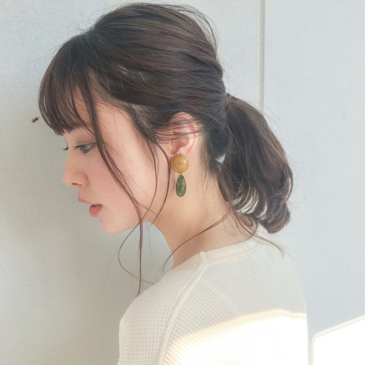 ポニーテールにはあえて後れ毛を作ってドキッとさせるスタイルに♡ Grow by GARDEN 細田