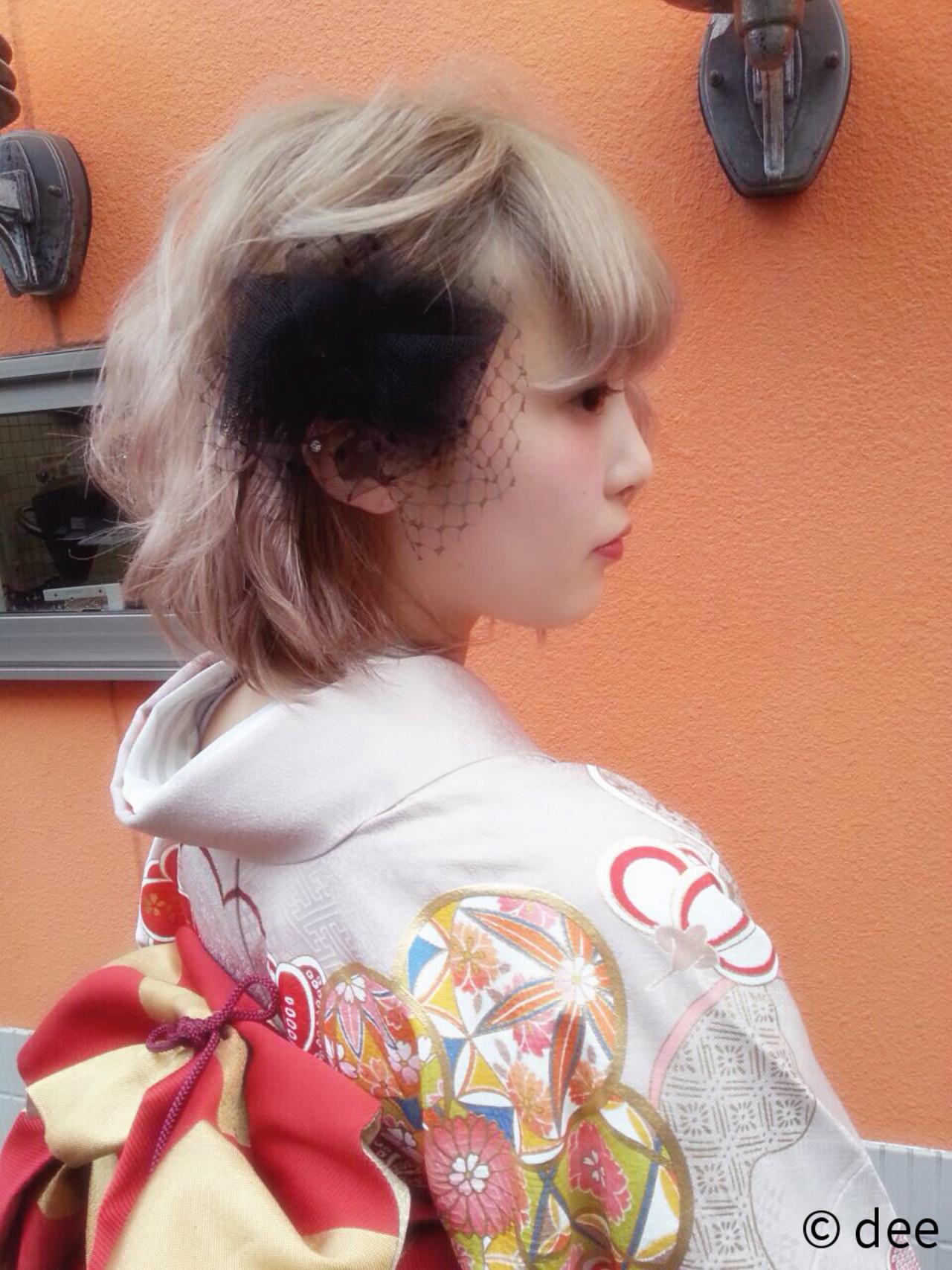 ヘアアレンジ 成人式 ボブ ヘアスタイルや髪型の写真・画像