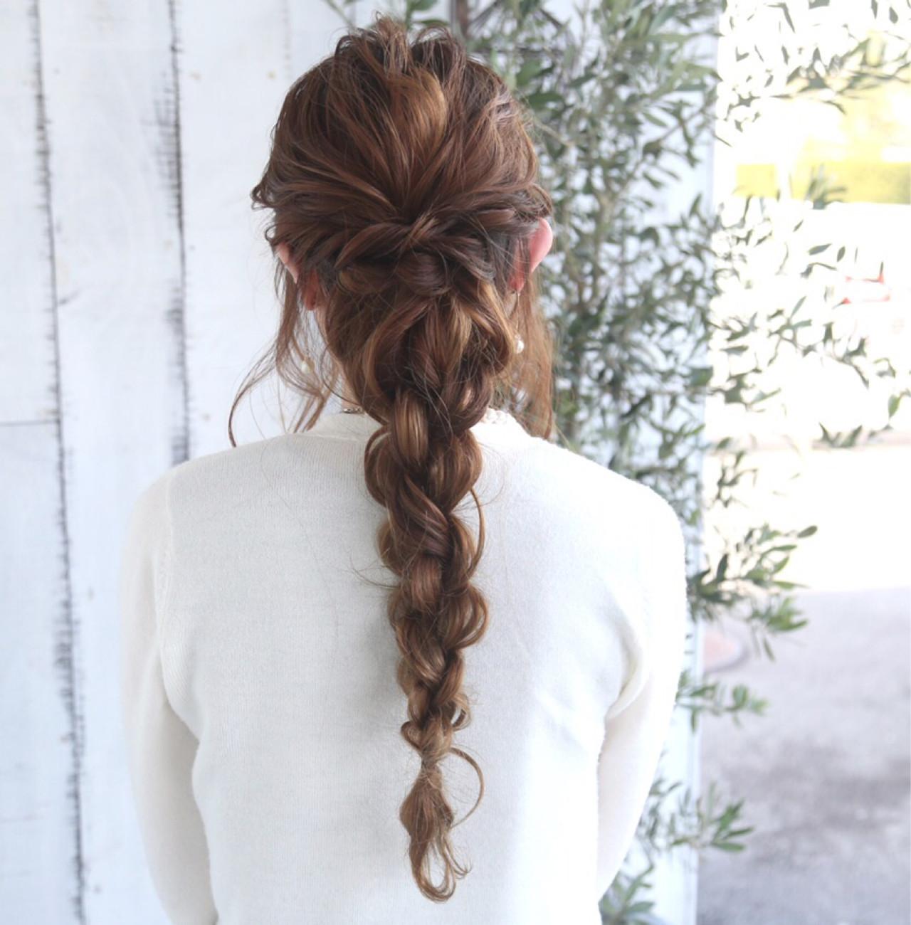 難しいと思ってない 簡単にできるロングの編み込みヘアアレンジ Hair