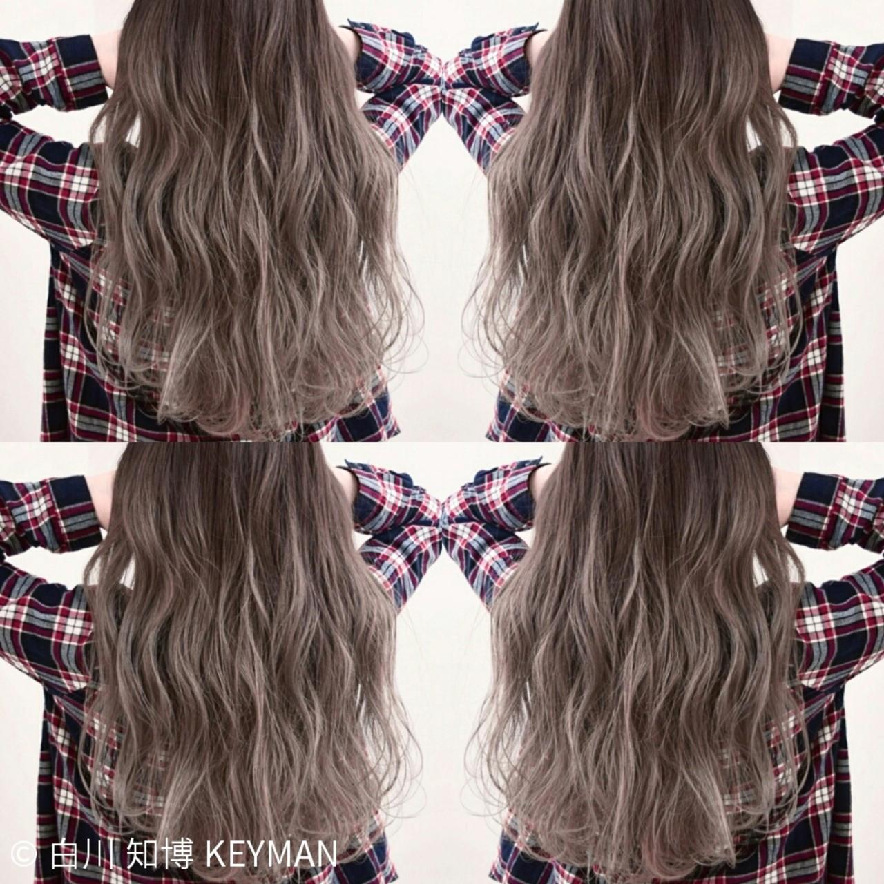 ロング ストリート ニュアンス カラーバター ヘアスタイルや髪型の写真・画像