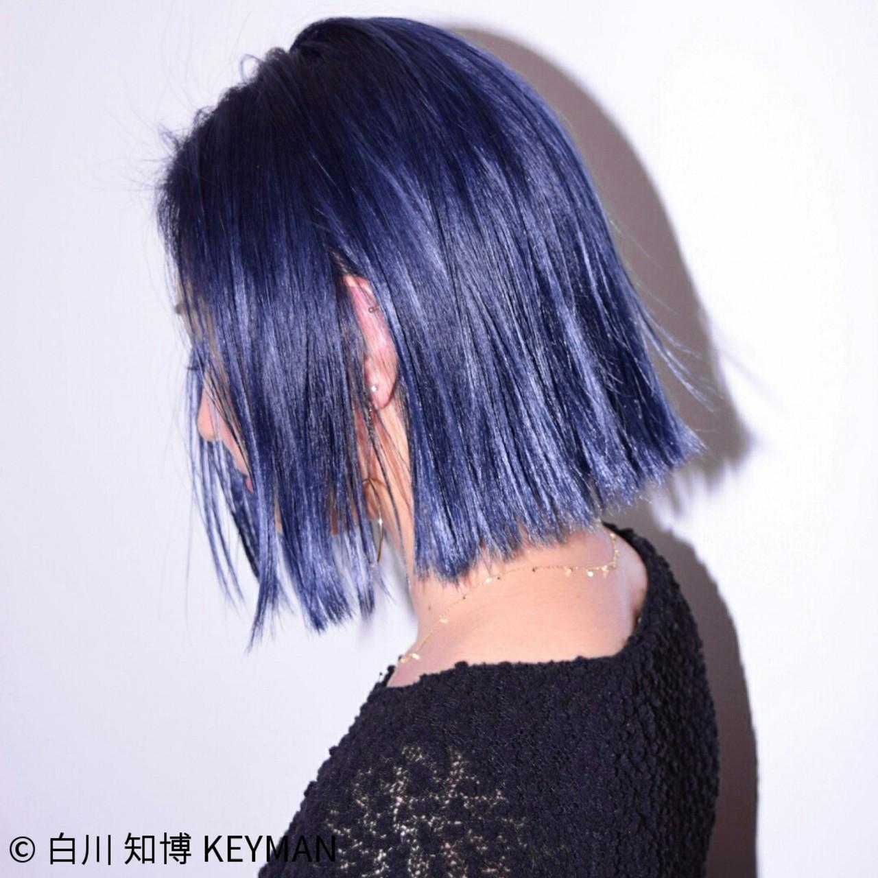 外国人風 色気 ボブ カラーバター ヘアスタイルや髪型の写真・画像