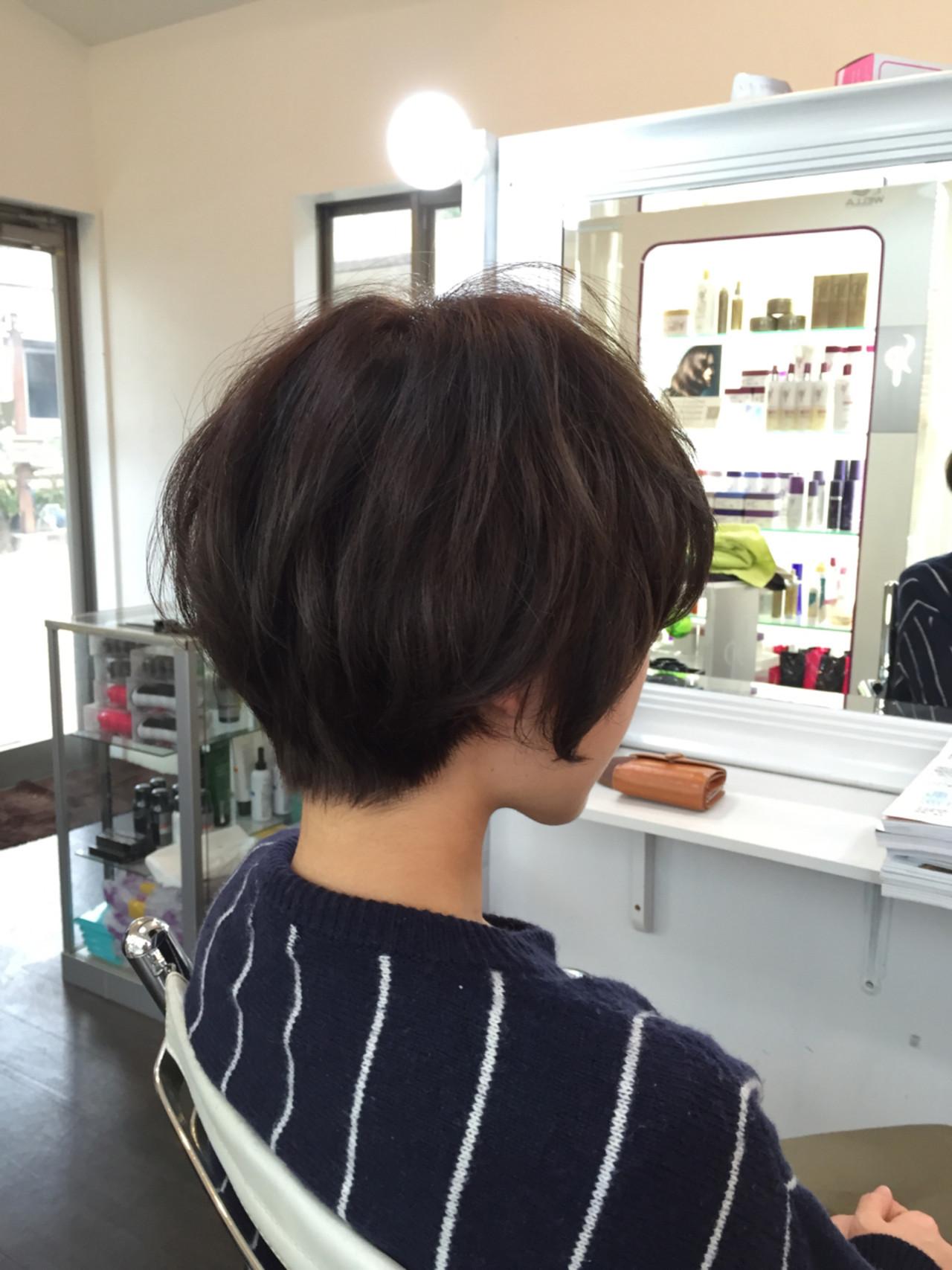 ぺたんこになりがちなショートヘアさん必見!デジタルパーマでふんわり旬ヘアに♡ 高尾武志  Hair Shop AIM