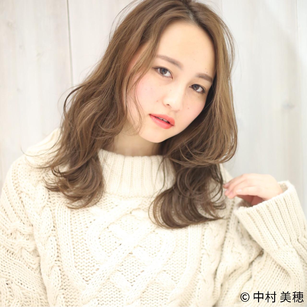 """シンプルに女子力アップ♡軽やかヘアでこなれ感を出すなら""""シースルー""""で決まり! 中村 美穂  k-two"""