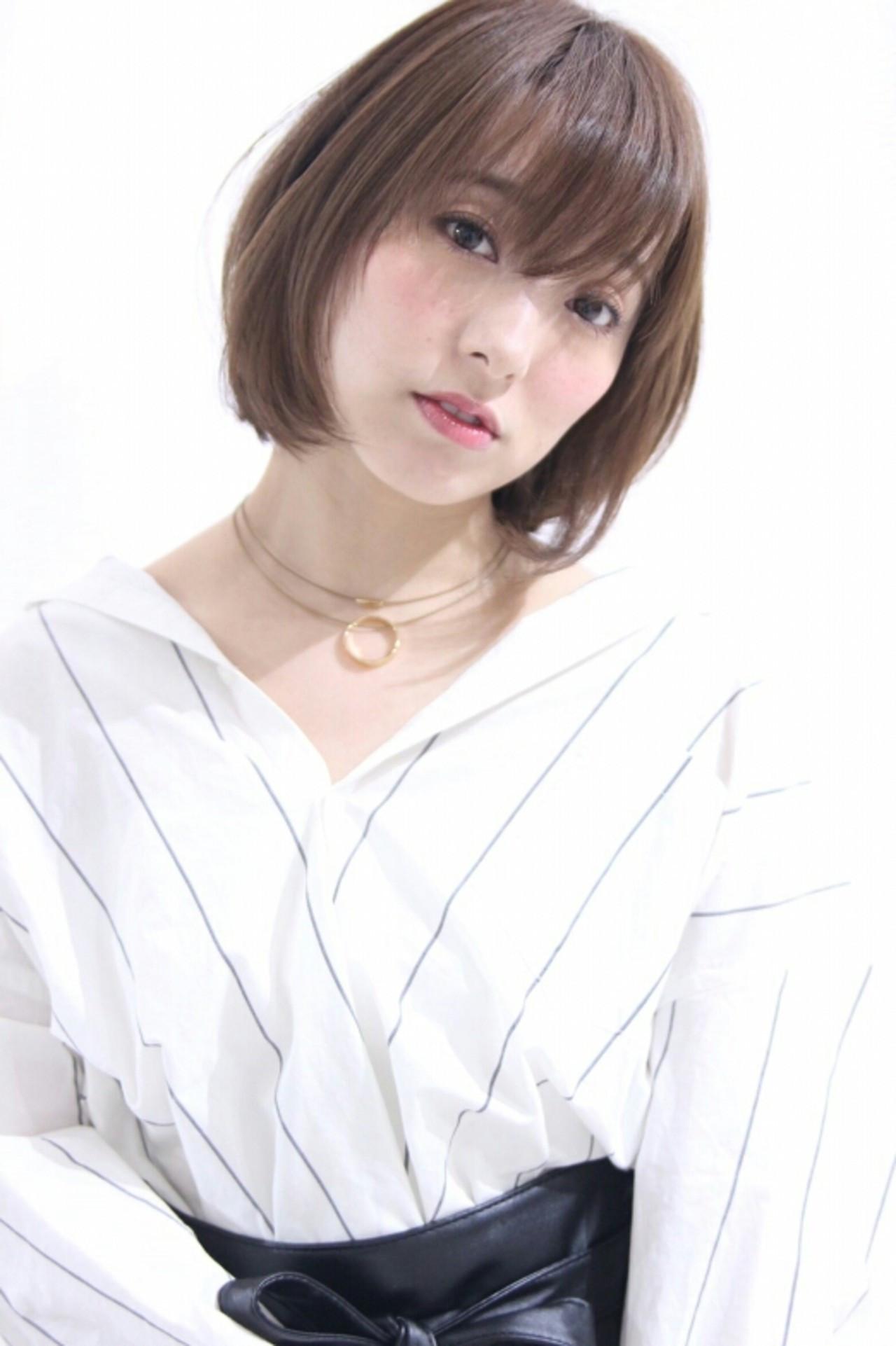 清楚で清潔感ある印象に!ショート×ストレートのおすすめスタイル10選 asuka