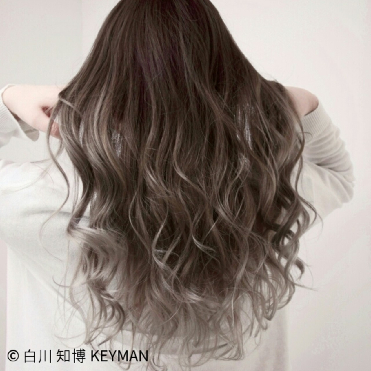 ニュアンス ロング 上品 外国人風 ヘアスタイルや髪型の写真・画像