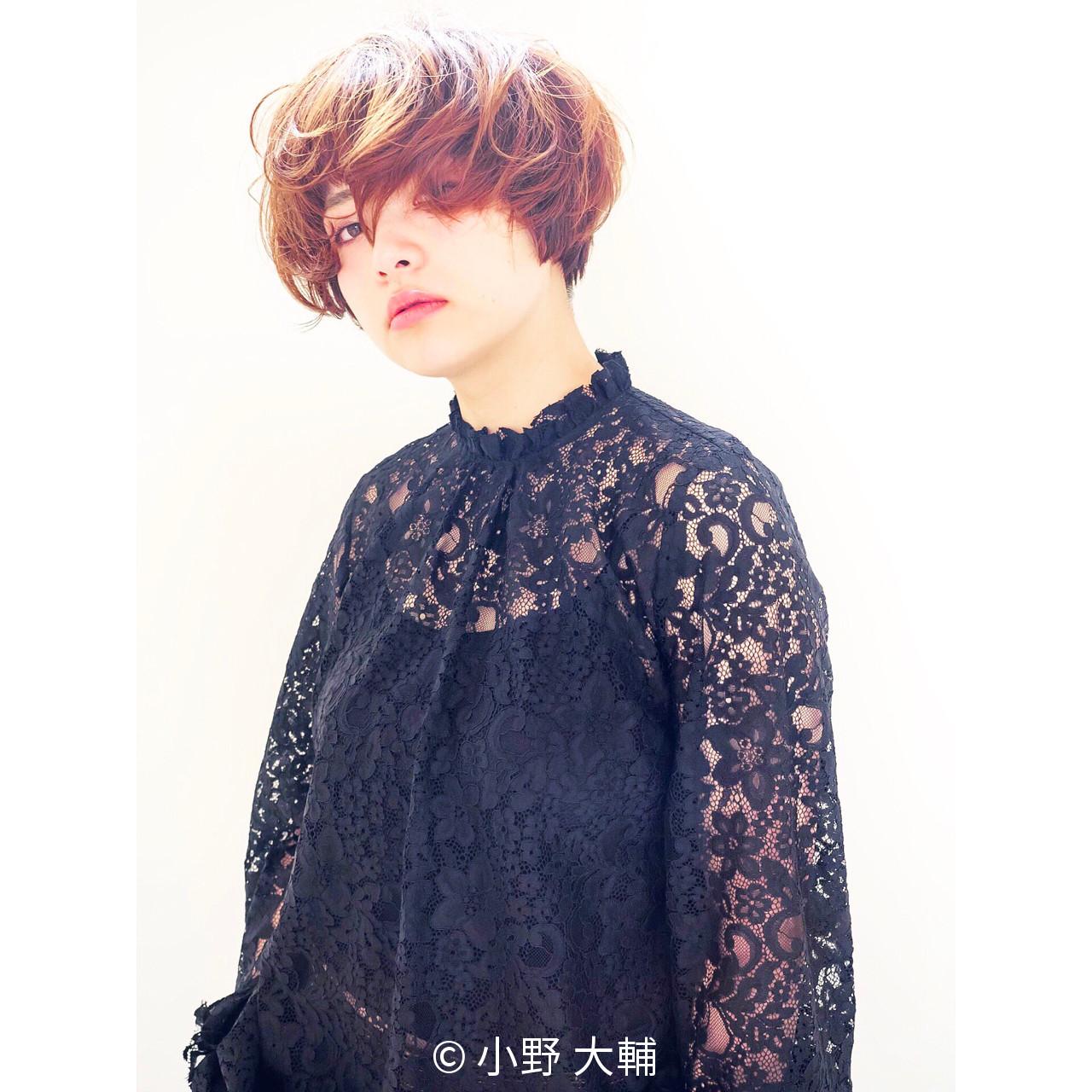 ショート マッシュ 色気 パーマ ヘアスタイルや髪型の写真・画像