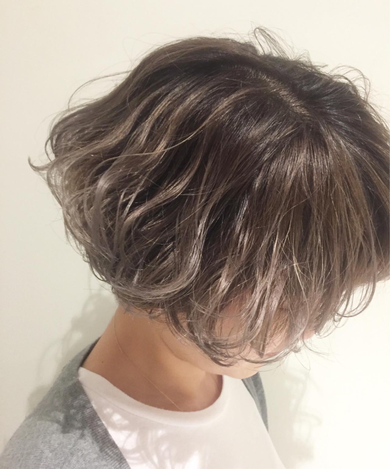 ハイライト 外国人風カラー ストリート グレージュ ヘアスタイルや髪型の写真・画像