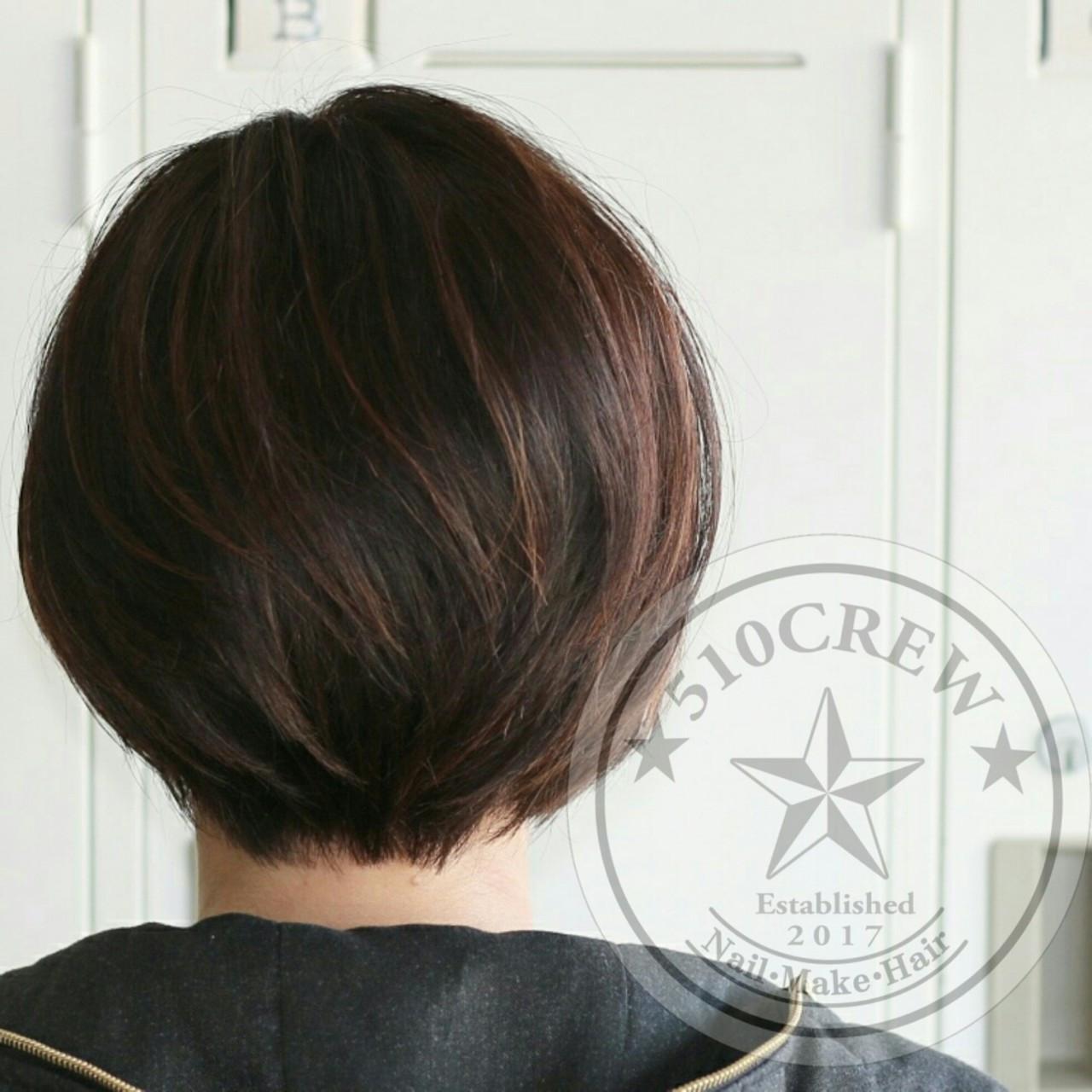 グラデーションカラー ショート フェミニン 大人かわいい ヘアスタイルや髪型の写真・画像