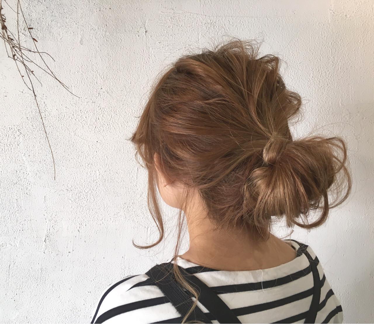 不器用女子にもできちゃう♡セミロングのかわいいアップアレンジまとめ 尾崎裕介  Quatre hair design