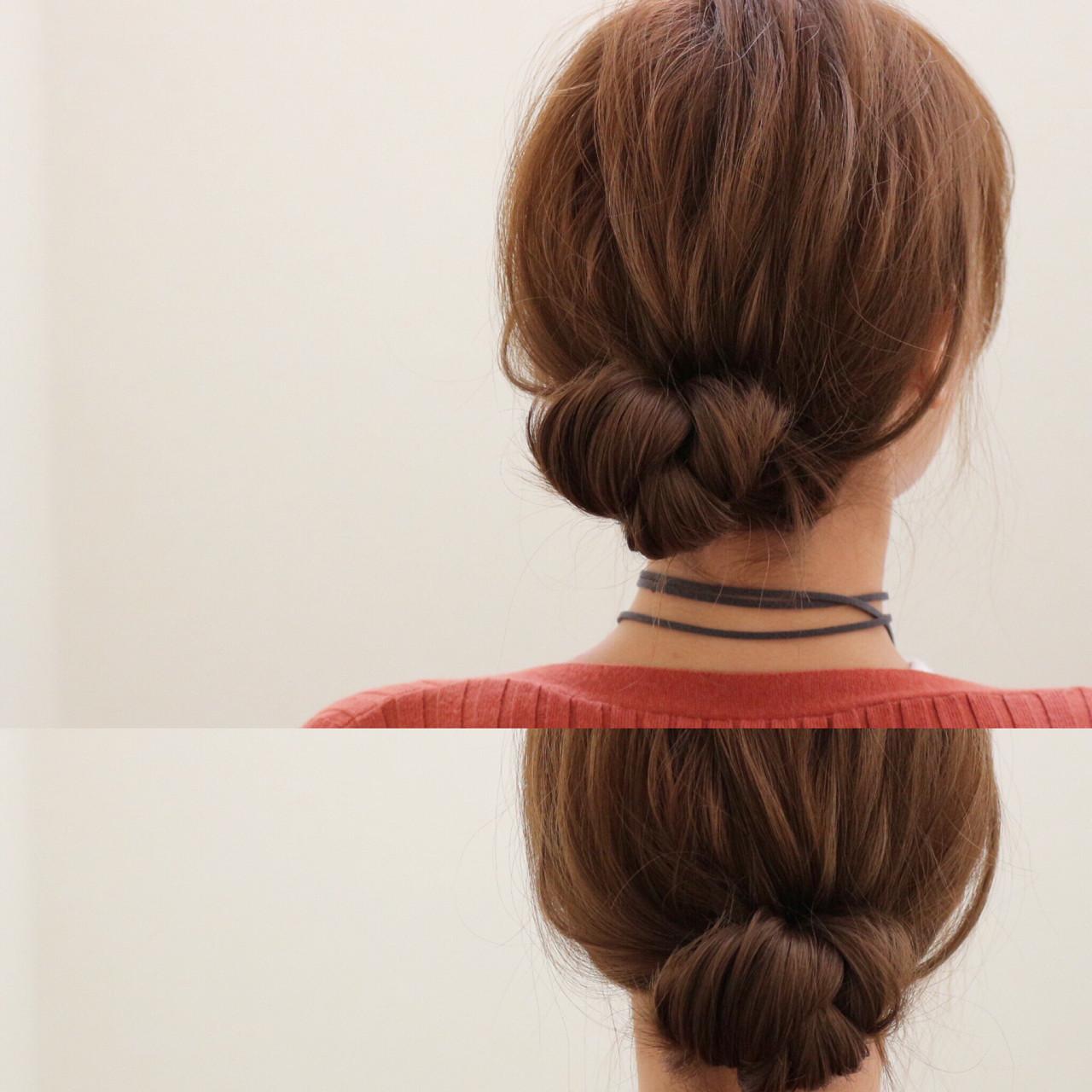 不器用女子にもできちゃう♡セミロングのかわいいアップアレンジまとめ ryota kuwamura  函館/hair make Full throttle/ フルスロットル