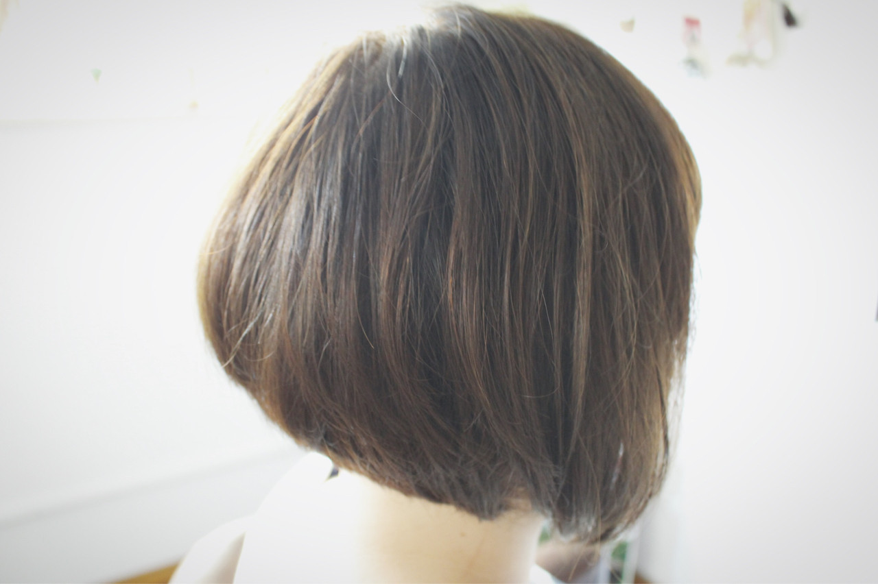 ベージュ ナチュラル 色気 ボブ ヘアスタイルや髪型の写真・画像
