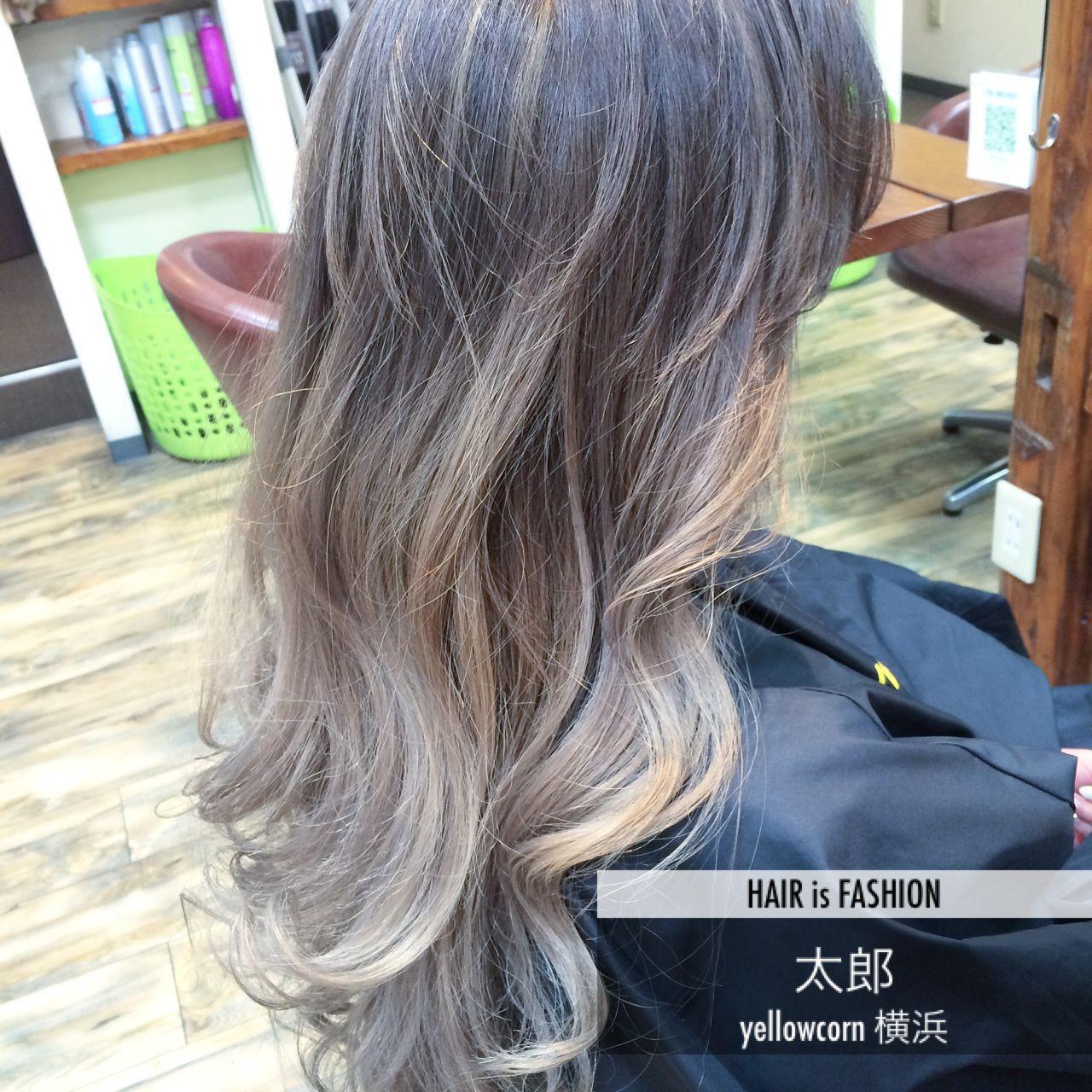 外国人風 バレイヤージュ ブリーチ ヘアスタイルや髪型の写真・画像