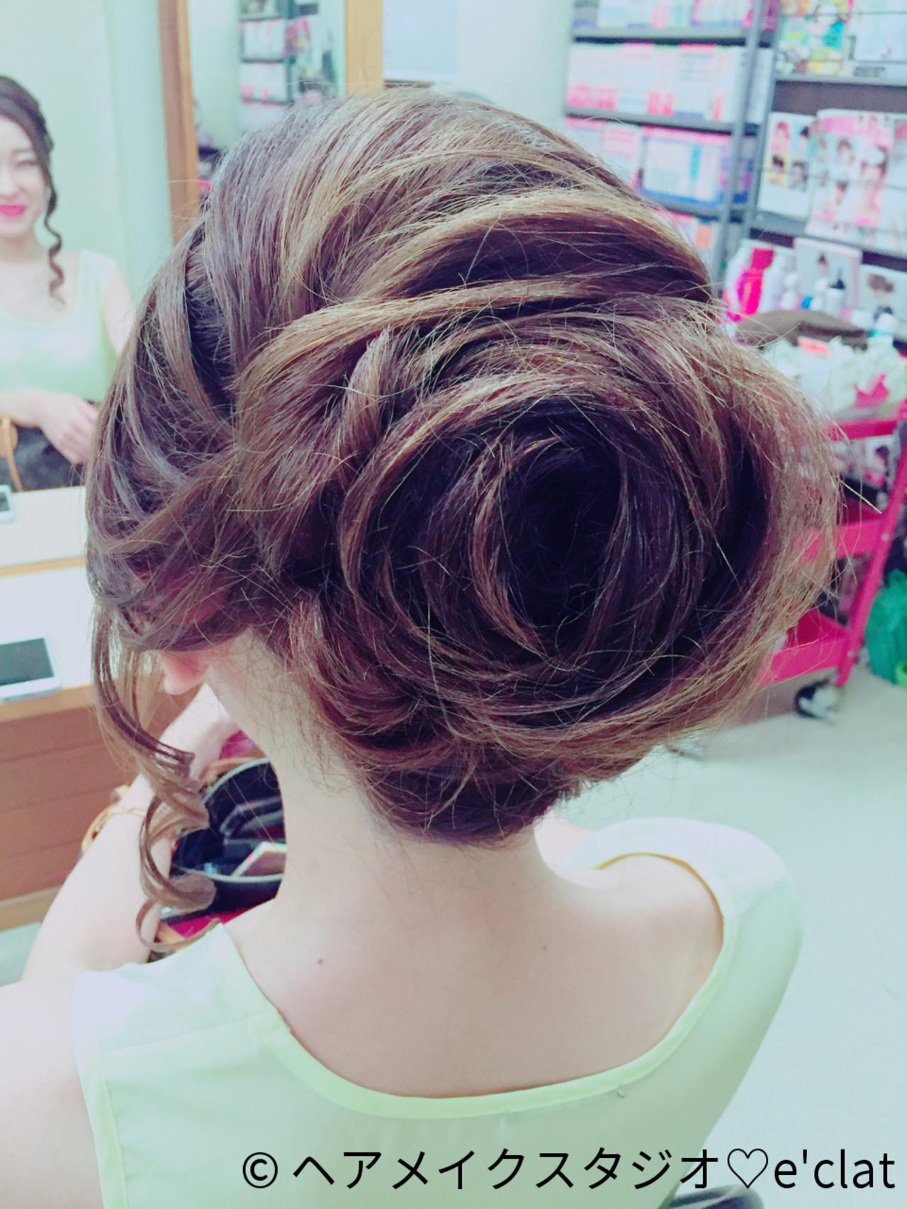 ヘアアレンジ ロング 夜会巻 ヘアスタイルや髪型の写真・画像