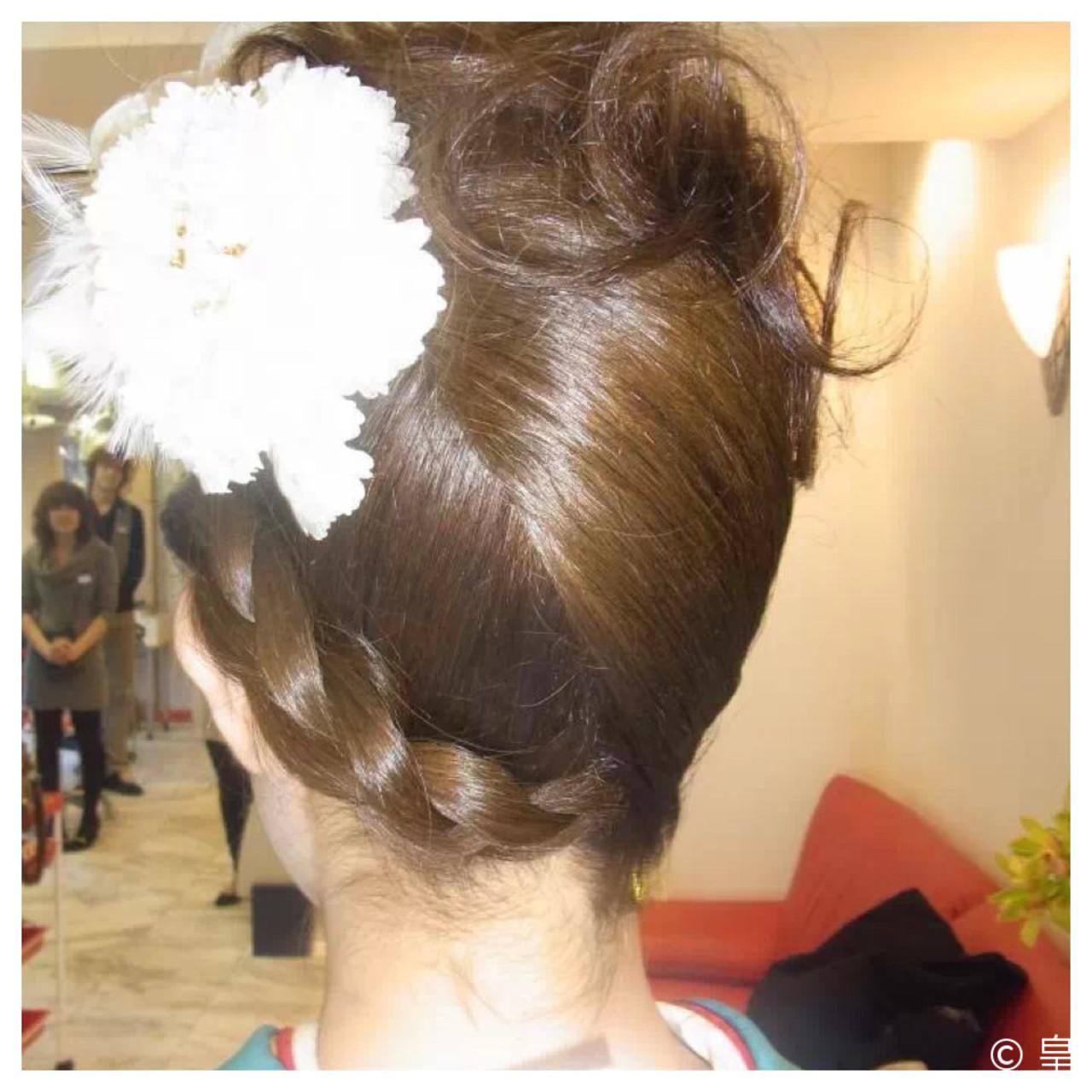 夜会巻 ロング ヘアアレンジ アップスタイル ヘアスタイルや髪型の写真・画像