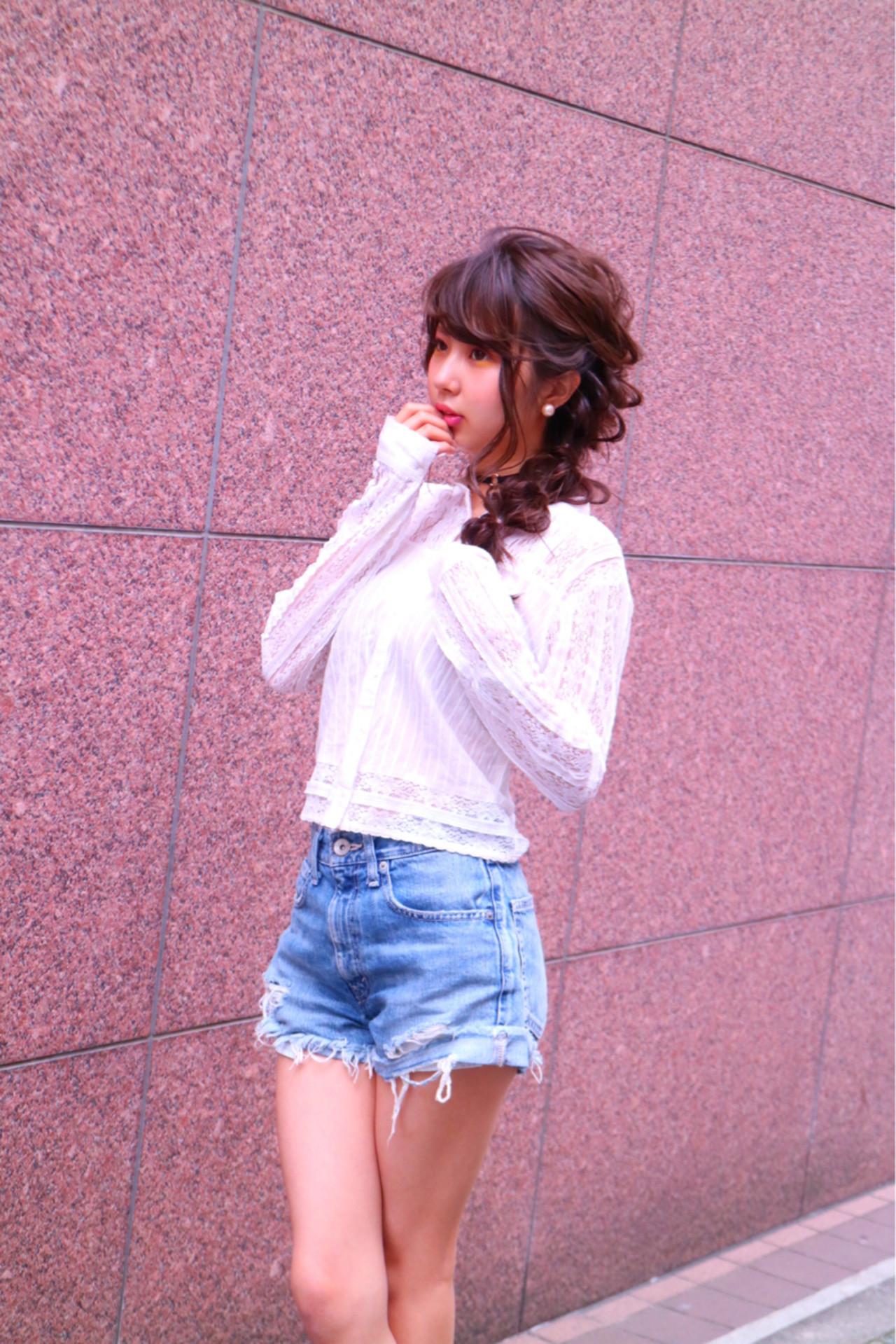 ヘアアレンジ 三つ編み デート 外国人風 ヘアスタイルや髪型の写真・画像