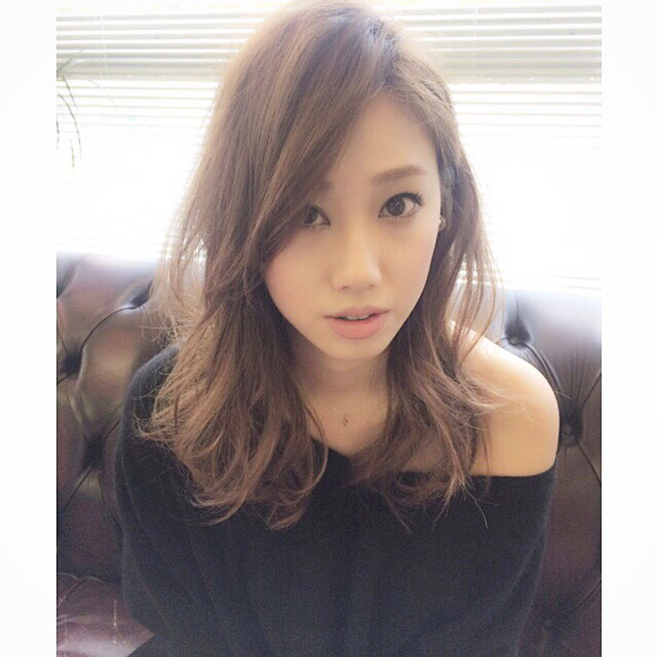 ロング ストリート 前髪あり かき上げ前髪 ヘアスタイルや髪型の写真・画像