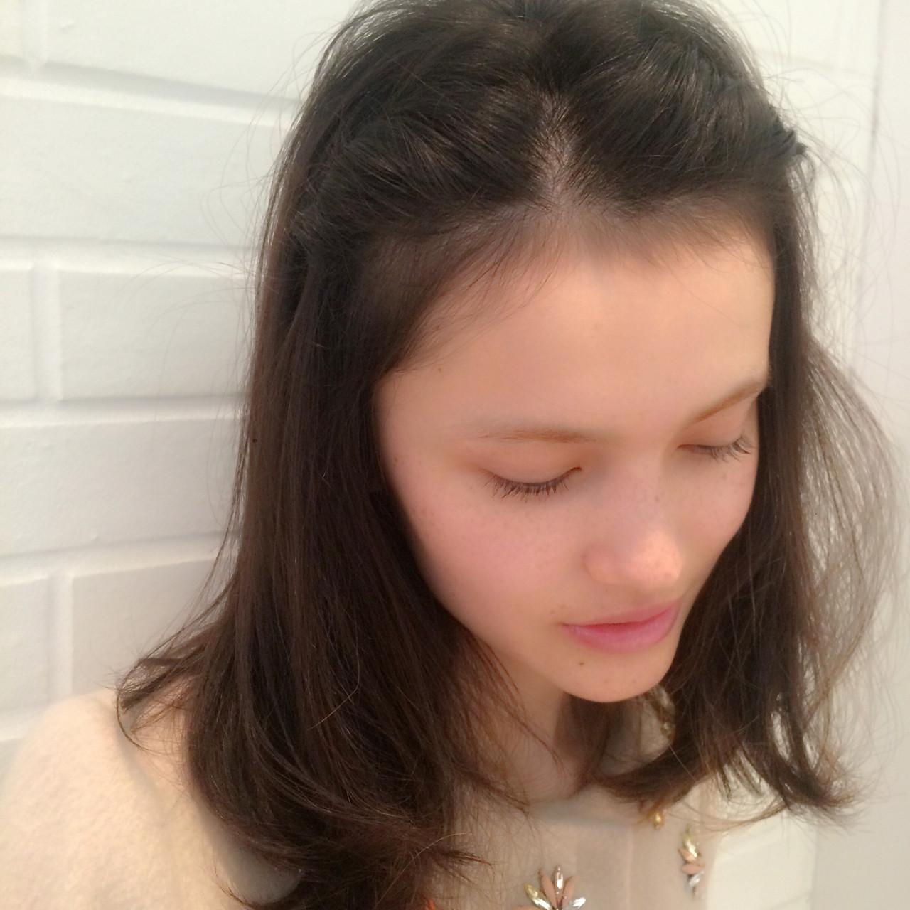 ラフ ショート ミディアム 簡単ヘアアレンジ ヘアスタイルや髪型の写真・画像