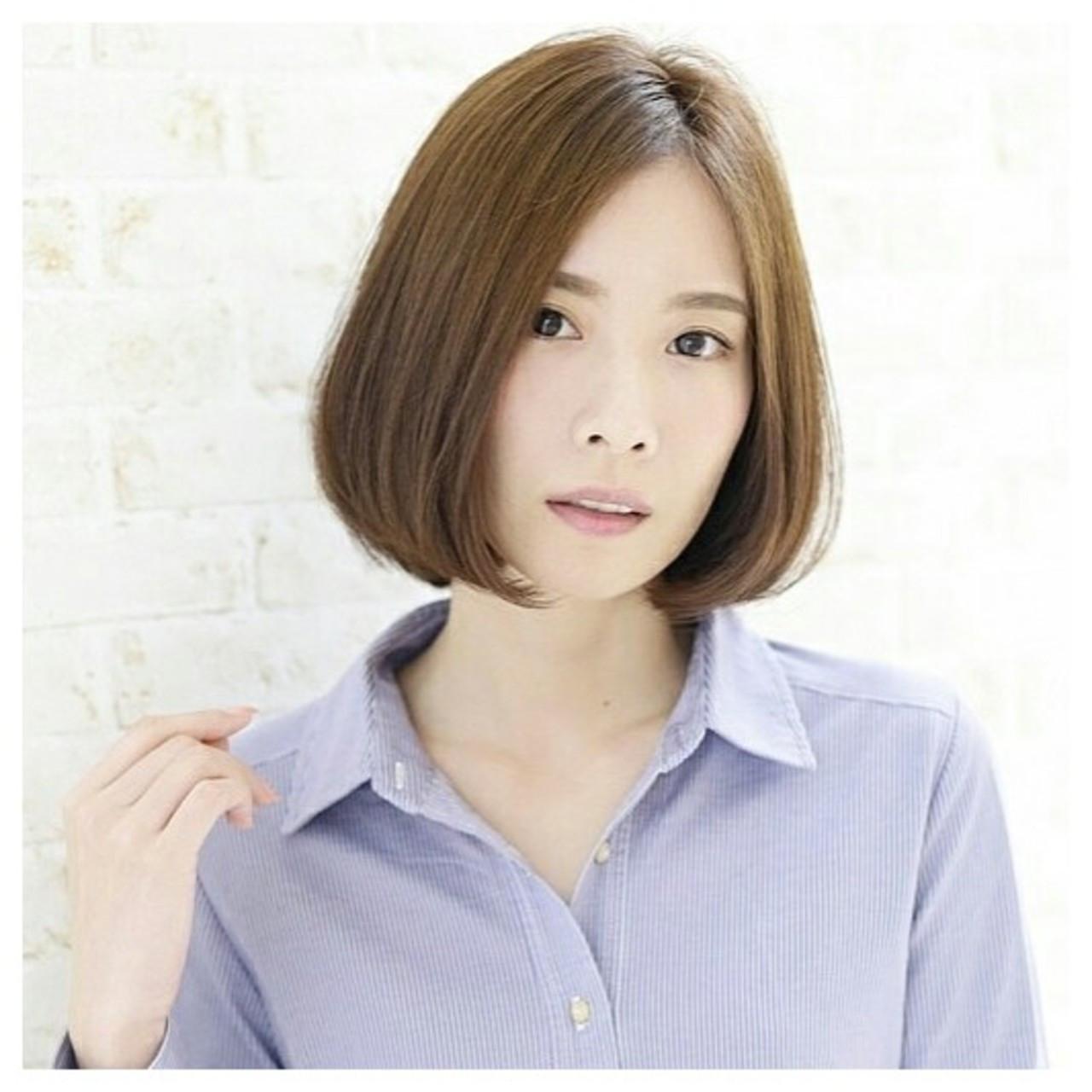 伸ばしかけ前髪はセンター分けで大人可愛く♡ショート×センター分け美人カタログ 愛