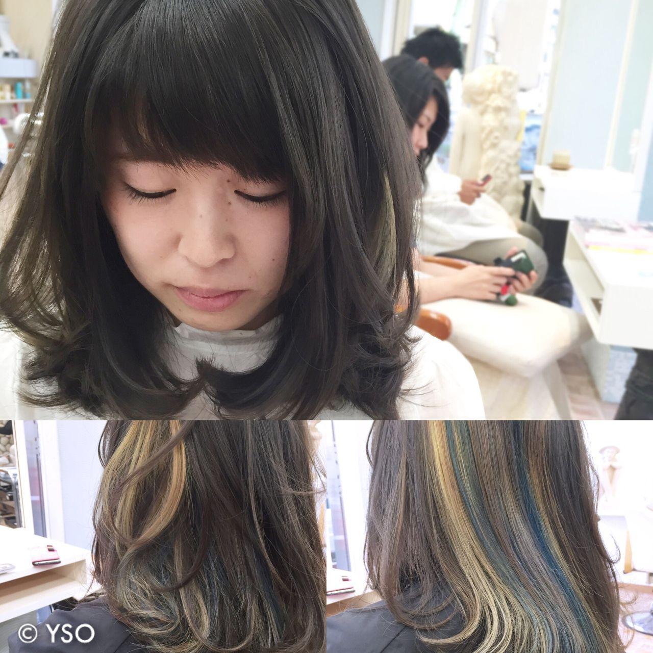 ミディアムヘアにインナーカラーをプラスして、アレンジの幅をもっと広げて♡ YSO
