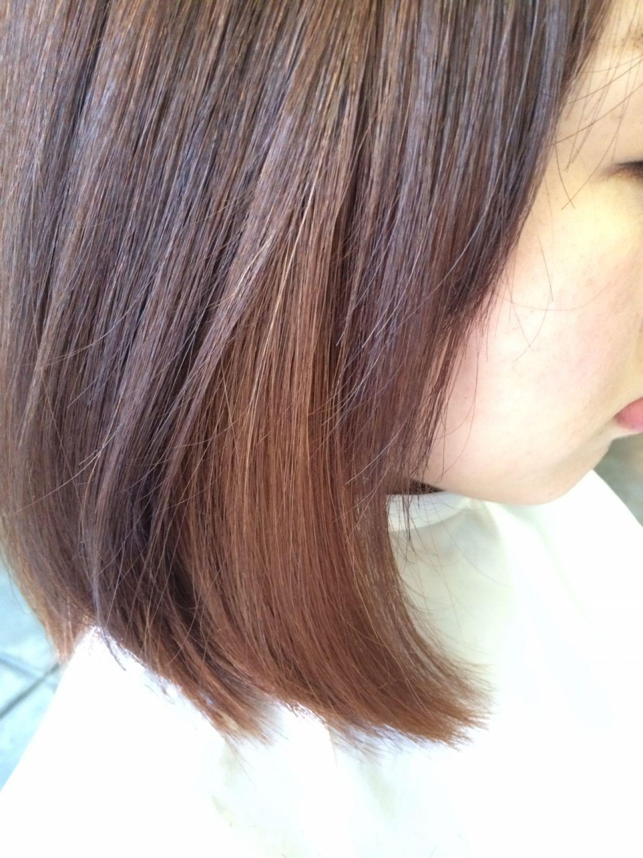 ミディアムヘアにインナーカラーをプラスして、アレンジの幅をもっと広げて♡ 田渕 英和