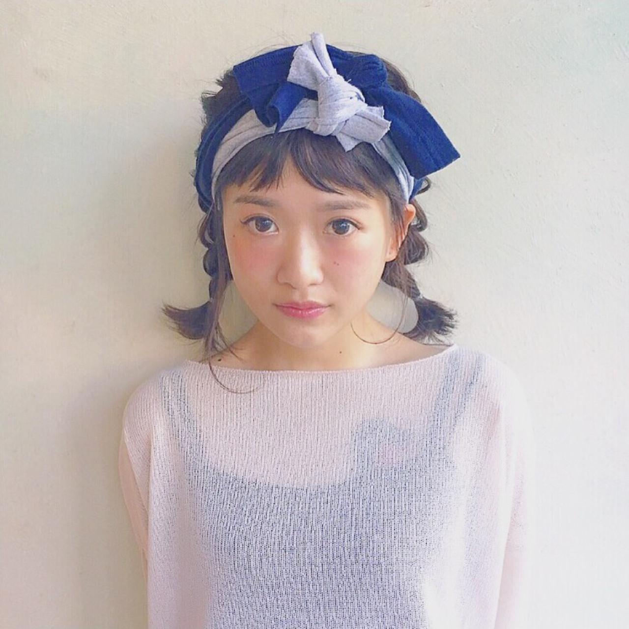 オシャレなオン眉をスーパーオシャレに♡簡単最強激かわヘアアレンジ! Chihiro Hayakawa