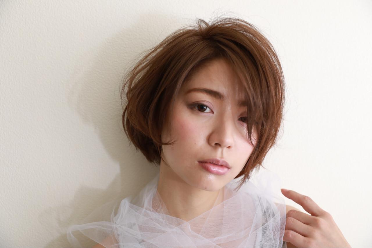 ショート 艶髪 ショートボブ 大人女子 ヘアスタイルや髪型の写真・画像