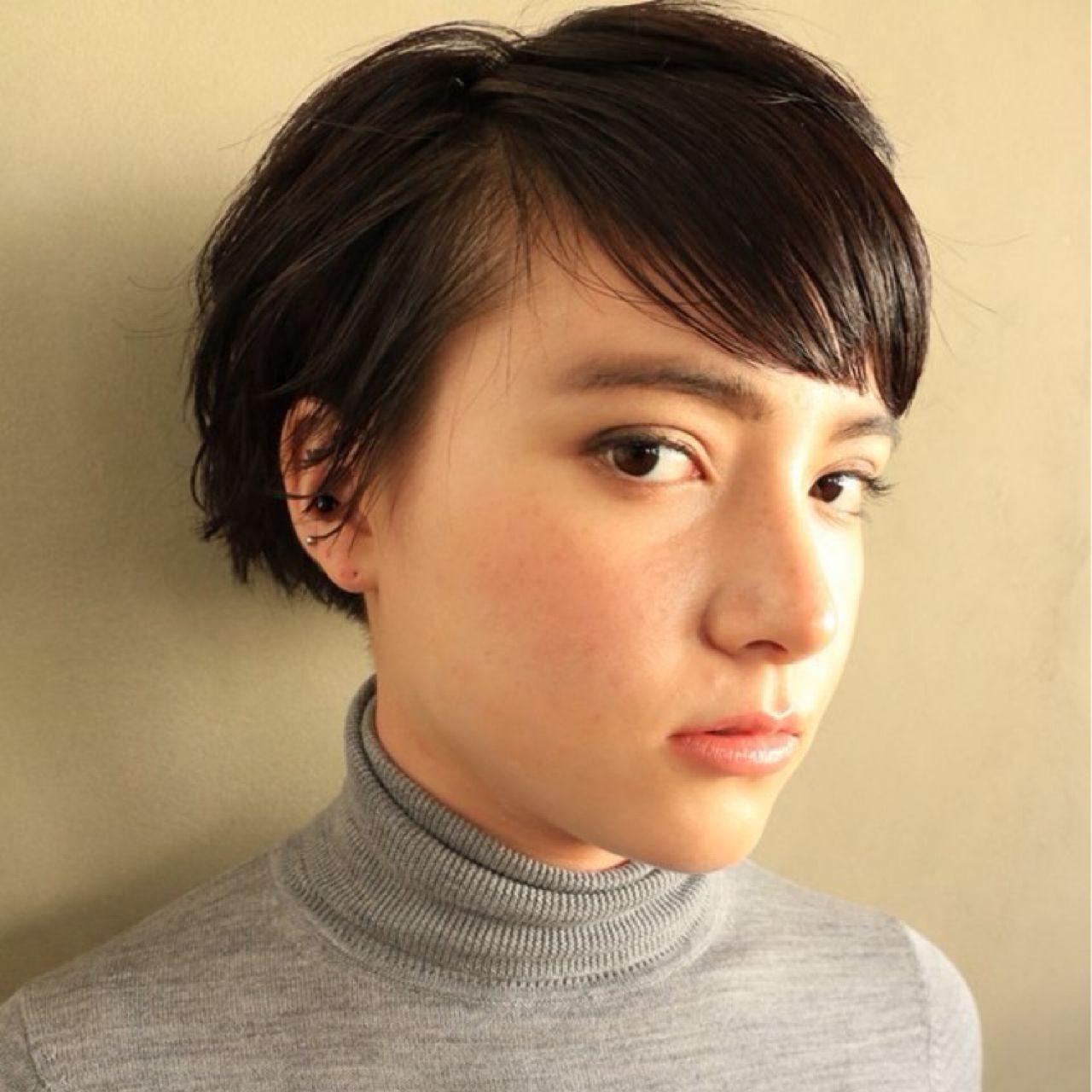 黒髪 ショート モード ヘアスタイルや髪型の写真・画像
