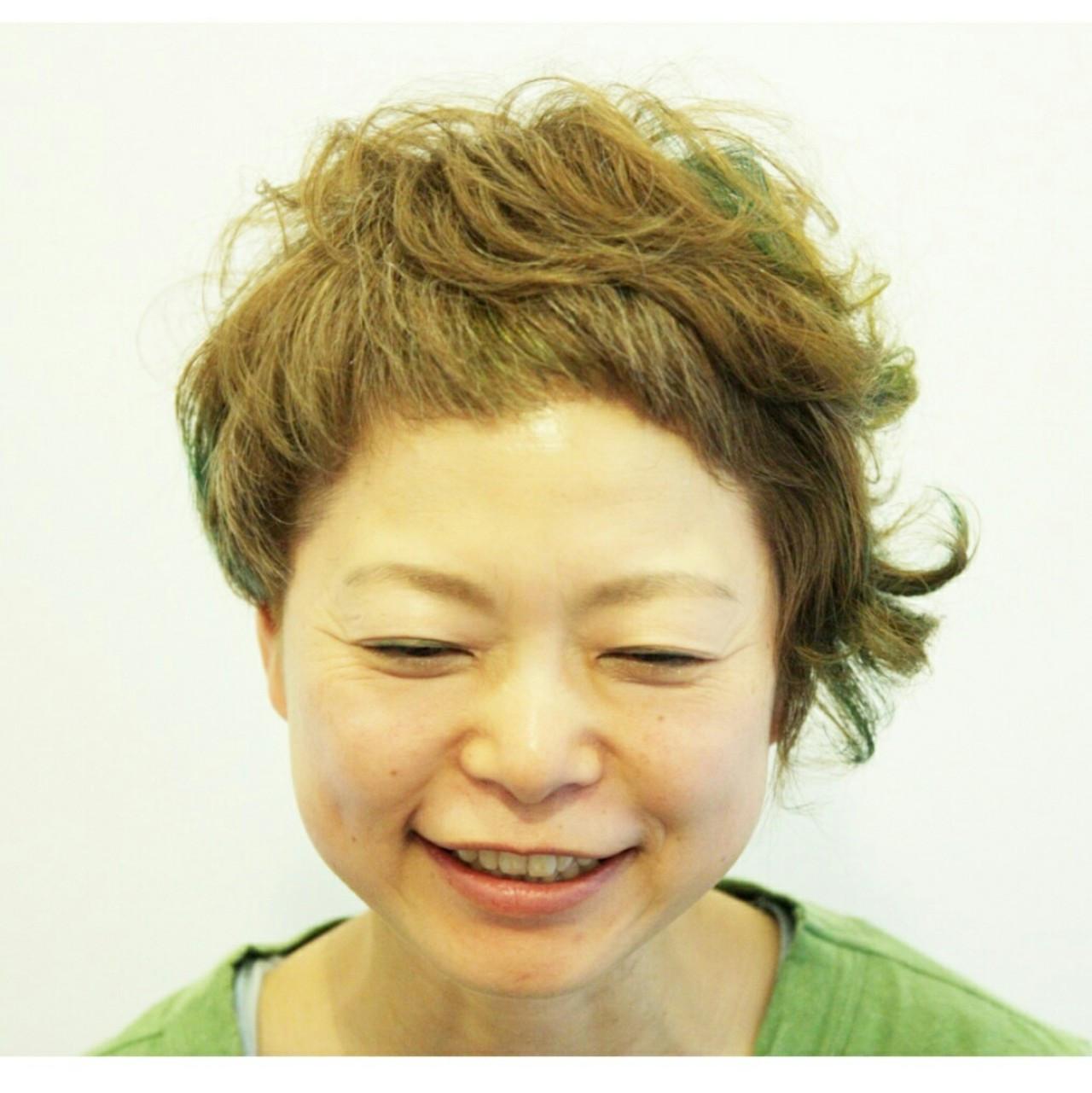 マッシュ ショート モード ゆるふわ ヘアスタイルや髪型の写真・画像