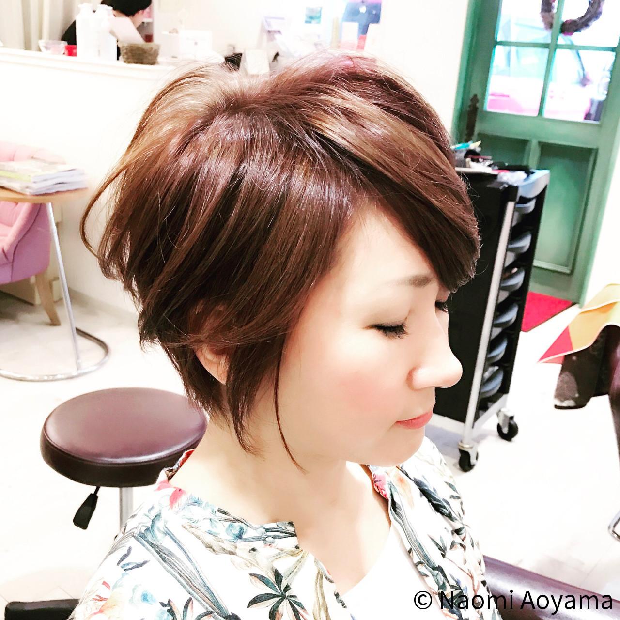 40代の魅力を最大限に引き出すヘアスタイルはボブ×パーマで決まり Naomi Aoyama  fresca