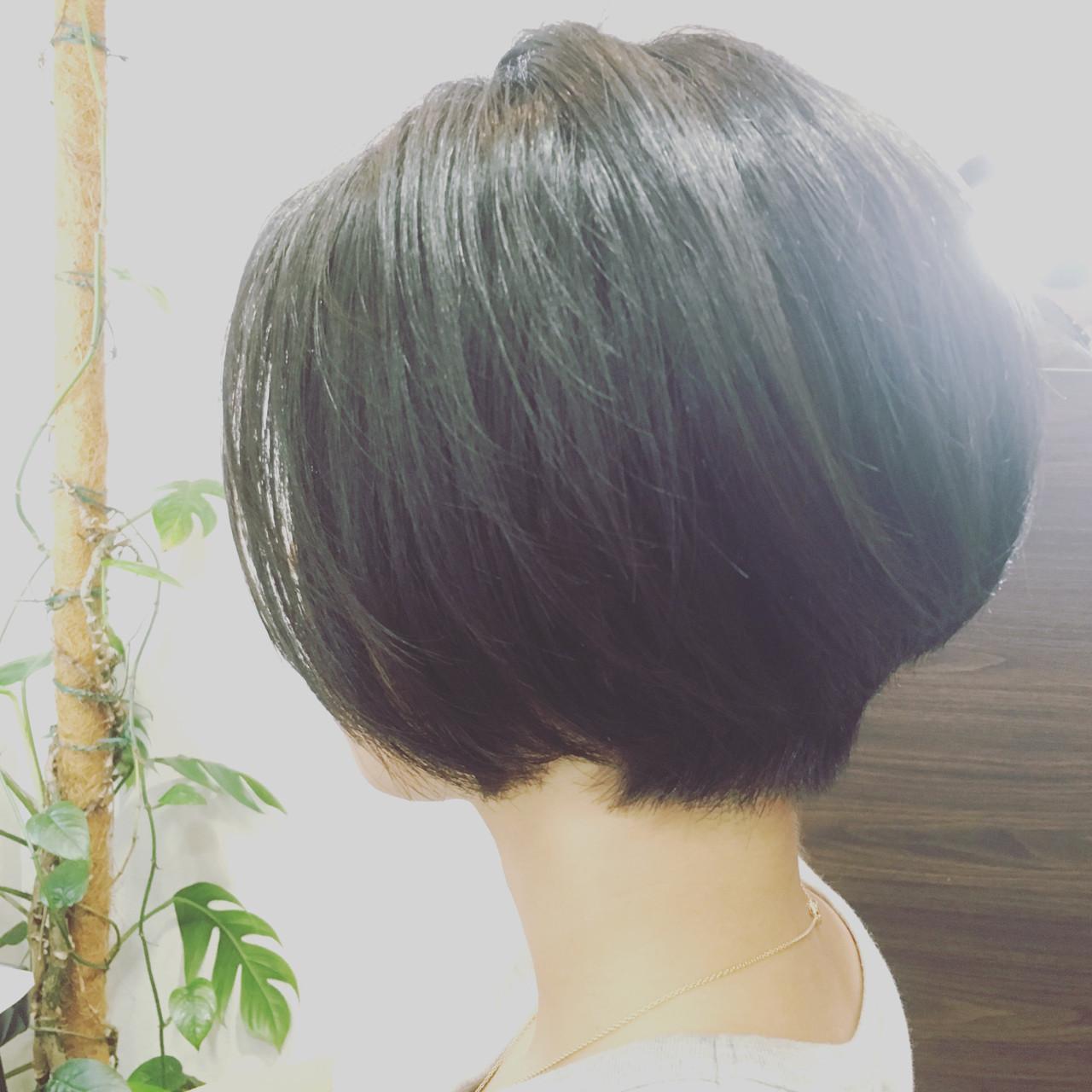 ナチュラル ボブ 束感 美シルエット ヘアスタイルや髪型の写真・画像