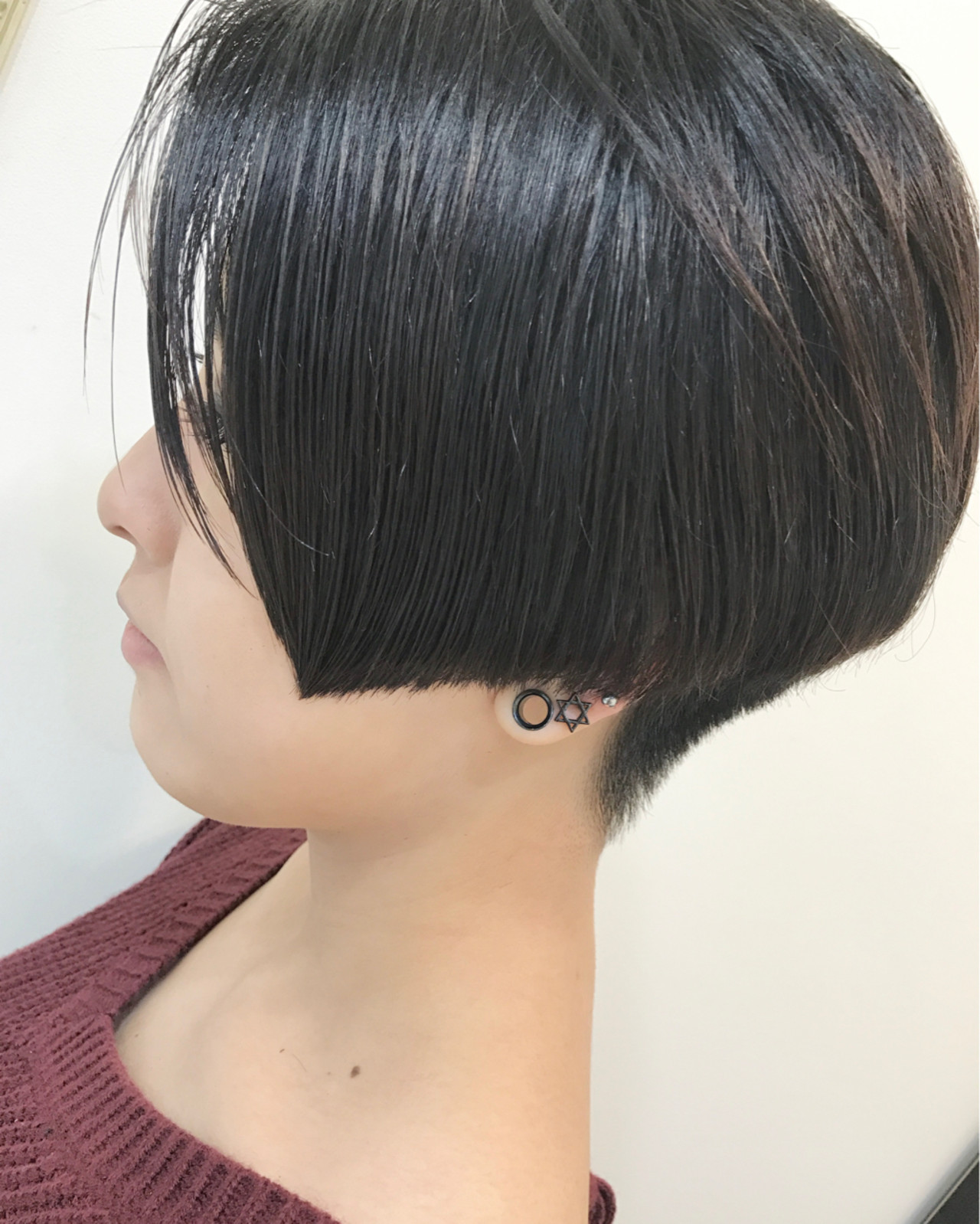 ショート 黒髪 モード ベリーショート ヘアスタイルや髪型の写真・画像