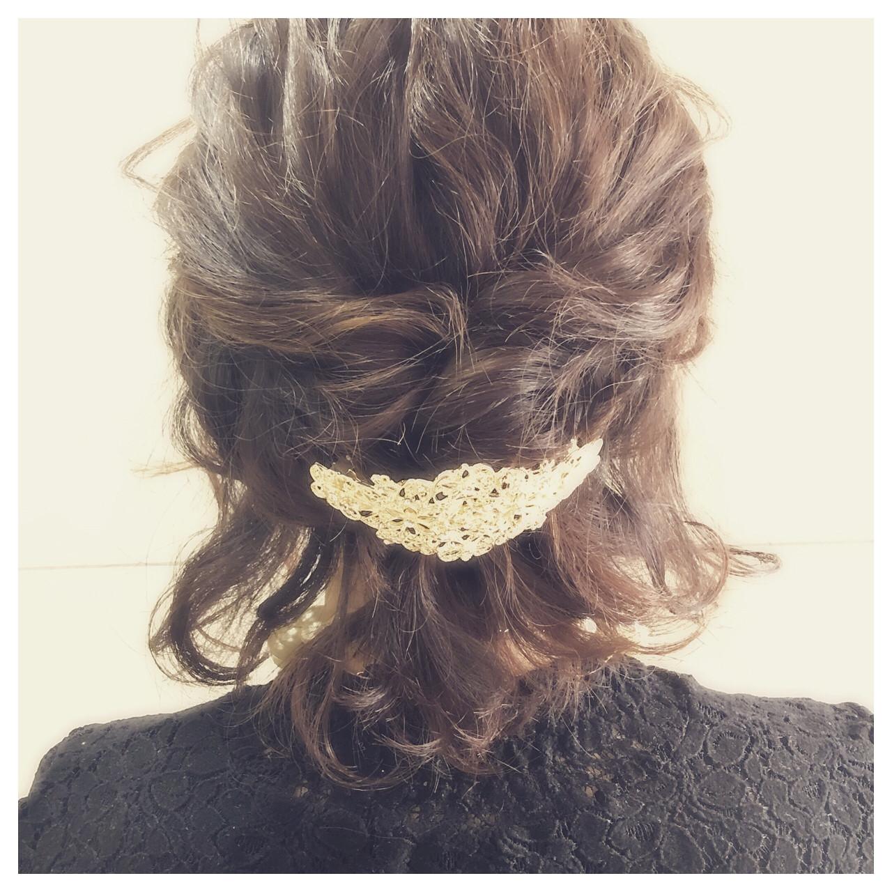 ボブ 結婚式 上品 エレガント ヘアスタイルや髪型の写真・画像
