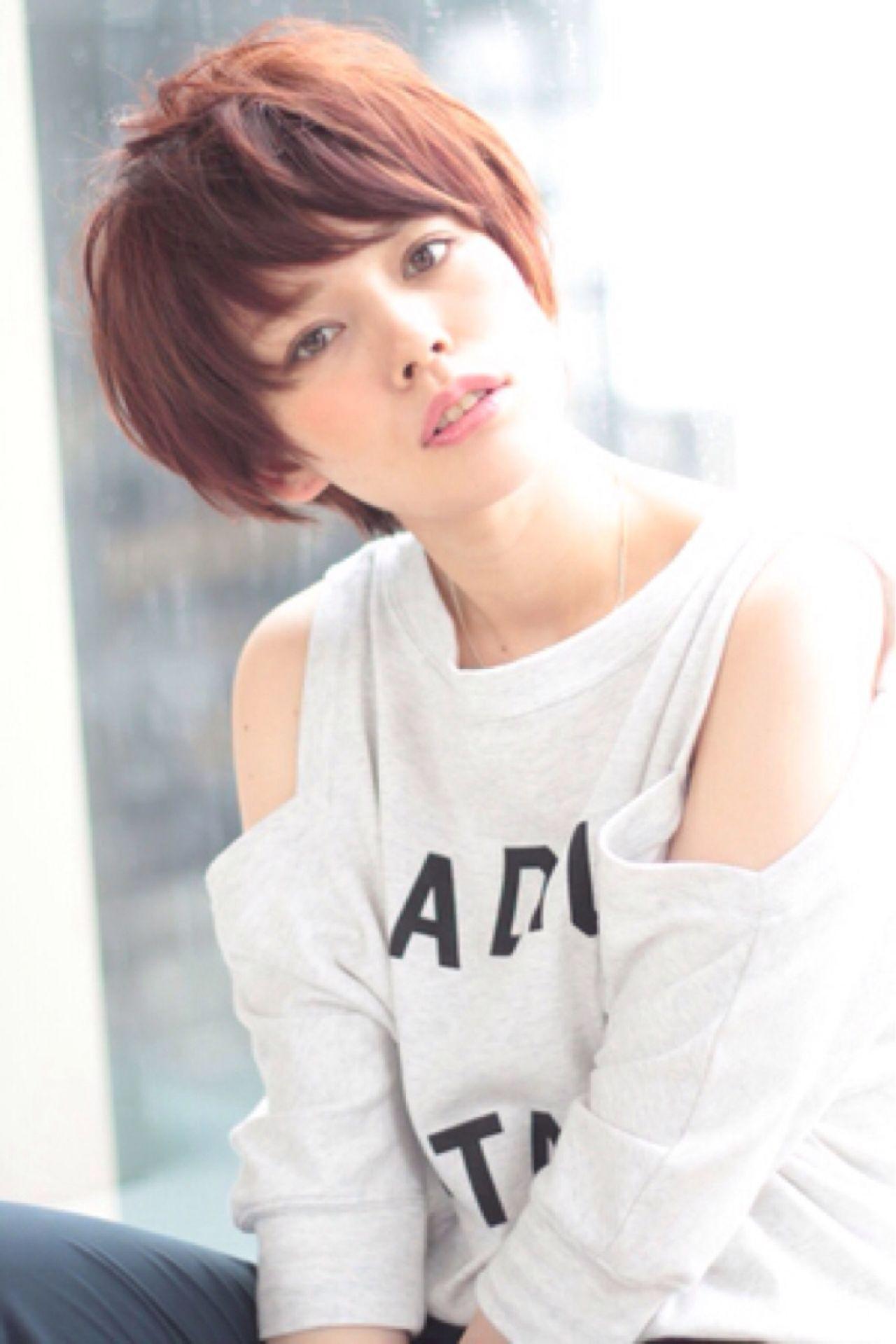 顔まわりすっきり!丸顔女子におすすめのベリーショートスタイル 星晃介