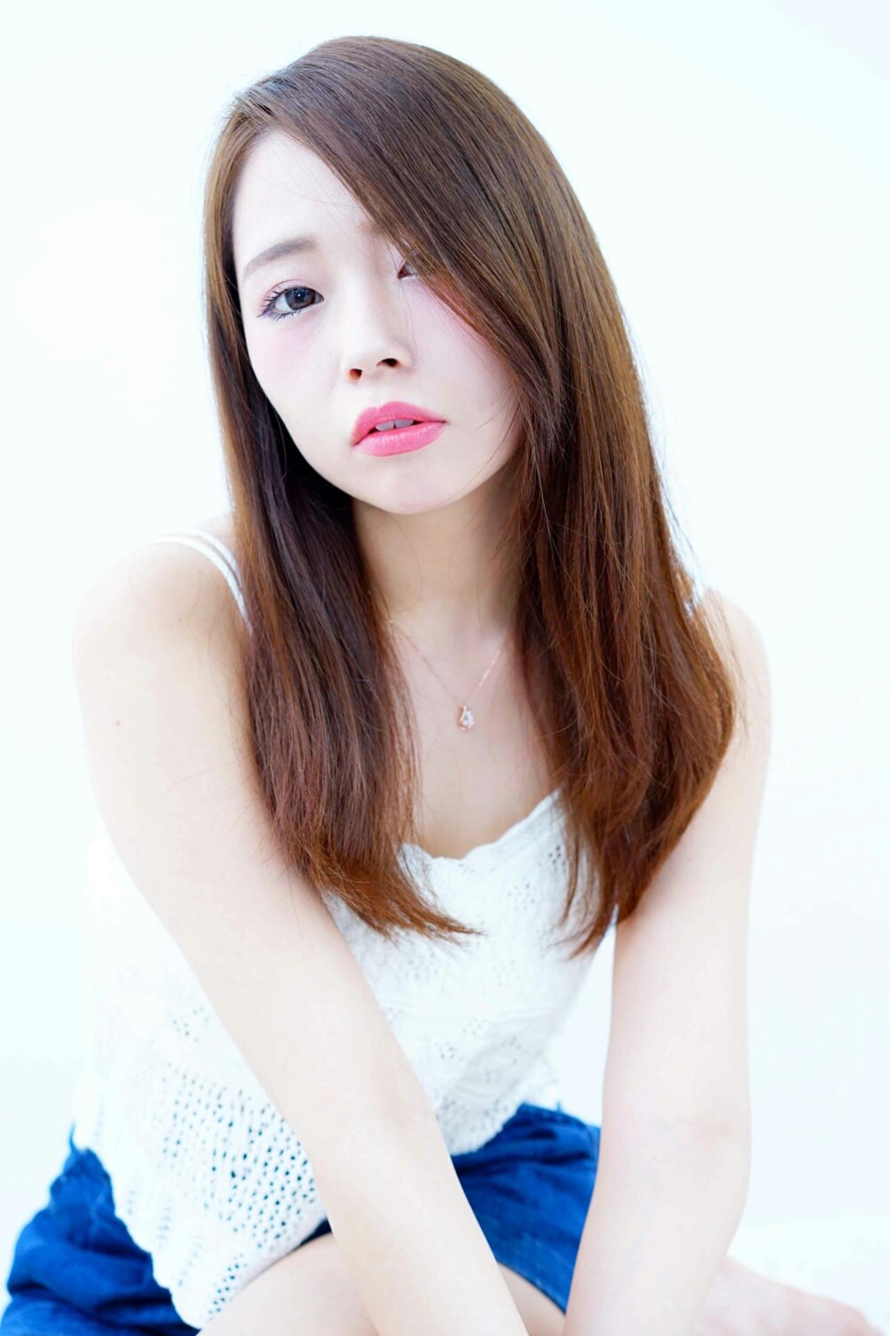 ロング 大人女子 ピュア キュート ヘアスタイルや髪型の写真・画像